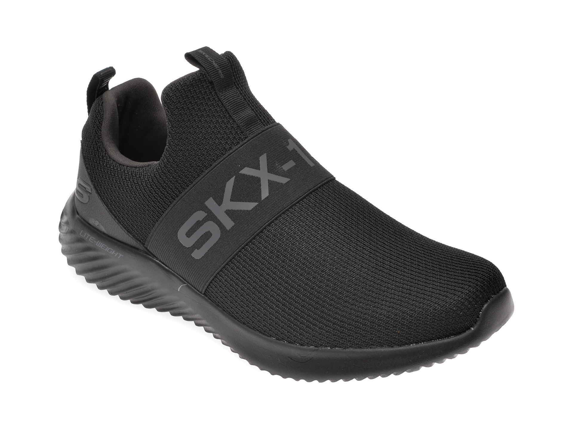 Pantofi sport SKECHERS negri, Bounder Wolfston, din material textil imagine