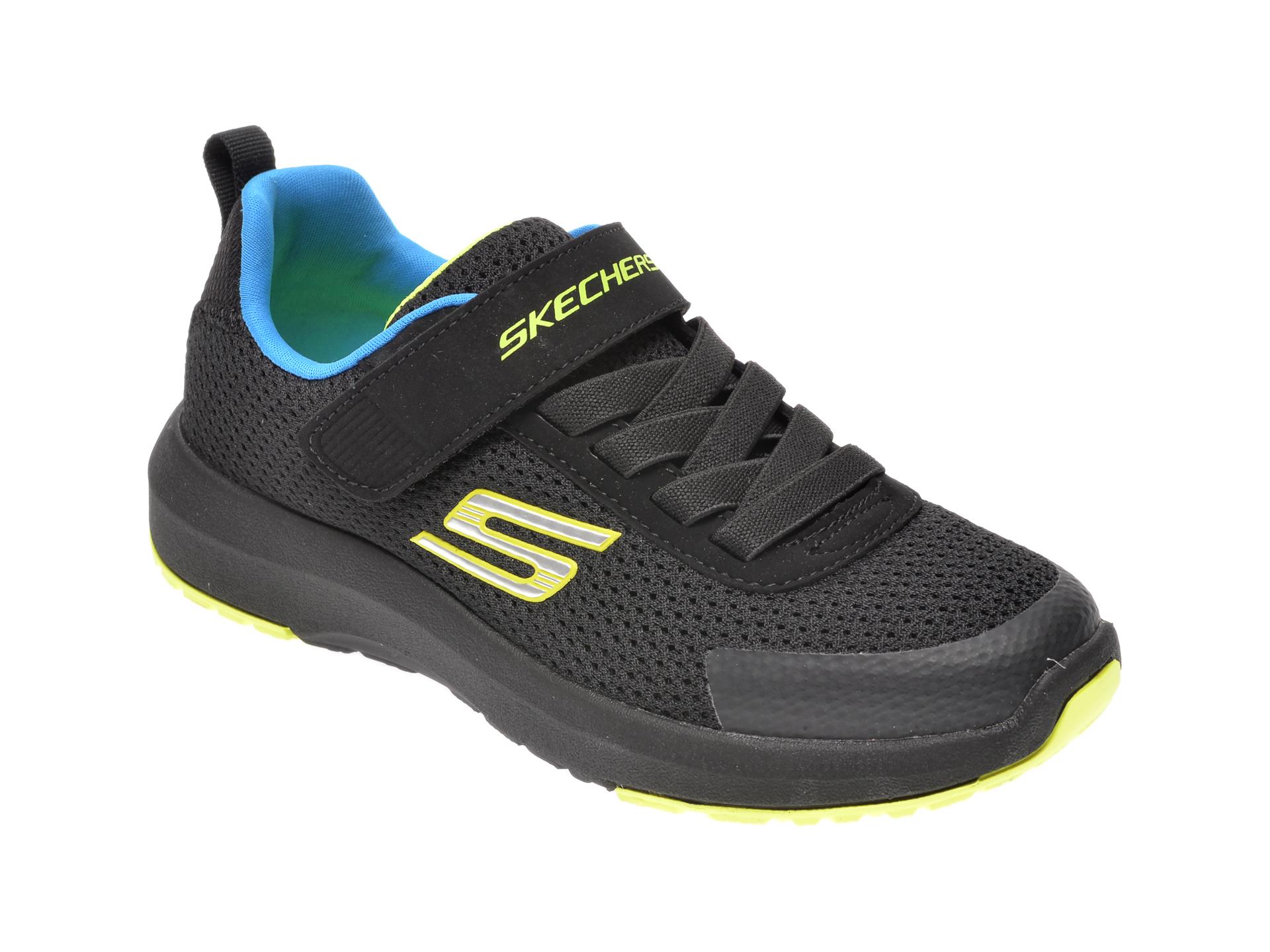 Pantofi sport SKECHERS negri, Dynamic Tread, din material textil imagine otter.ro