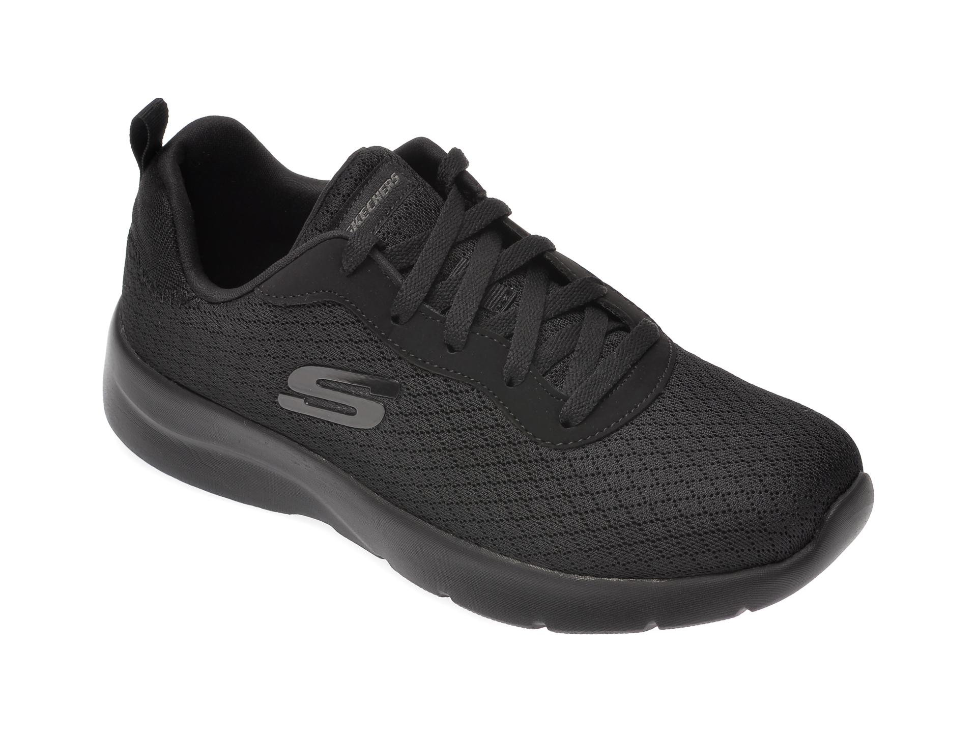 Pantofi sport SKECHERS negri, Dynamight 2.0 Eye To Eye, din material textil