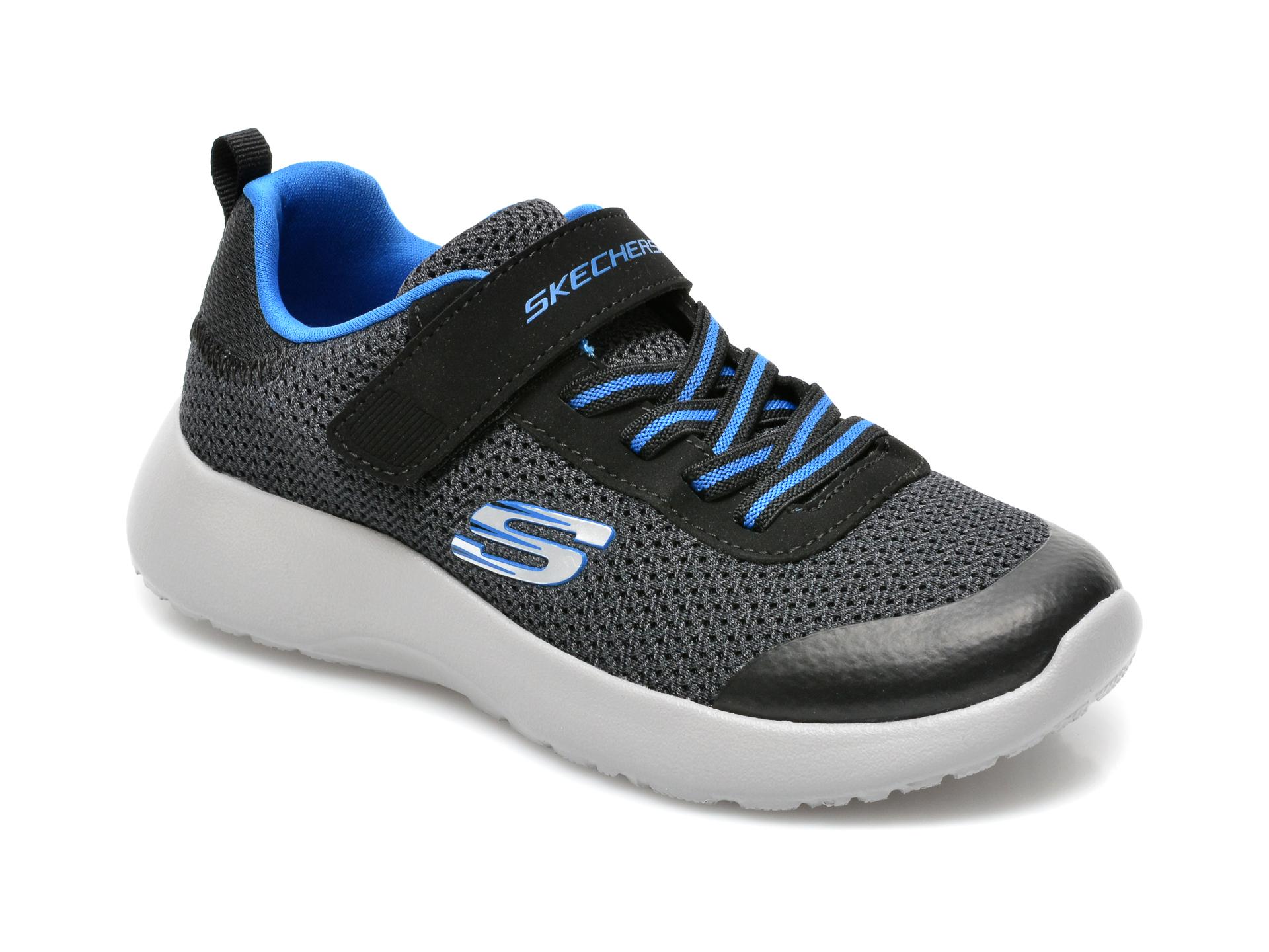 Pantofi sport SKECHERS negri, Dynamight, din material textil