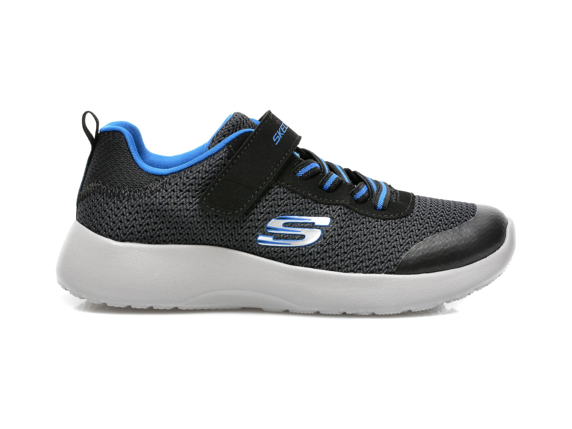 Pantofi sport SKECHERS negri, Dynamight, din material textil - 1