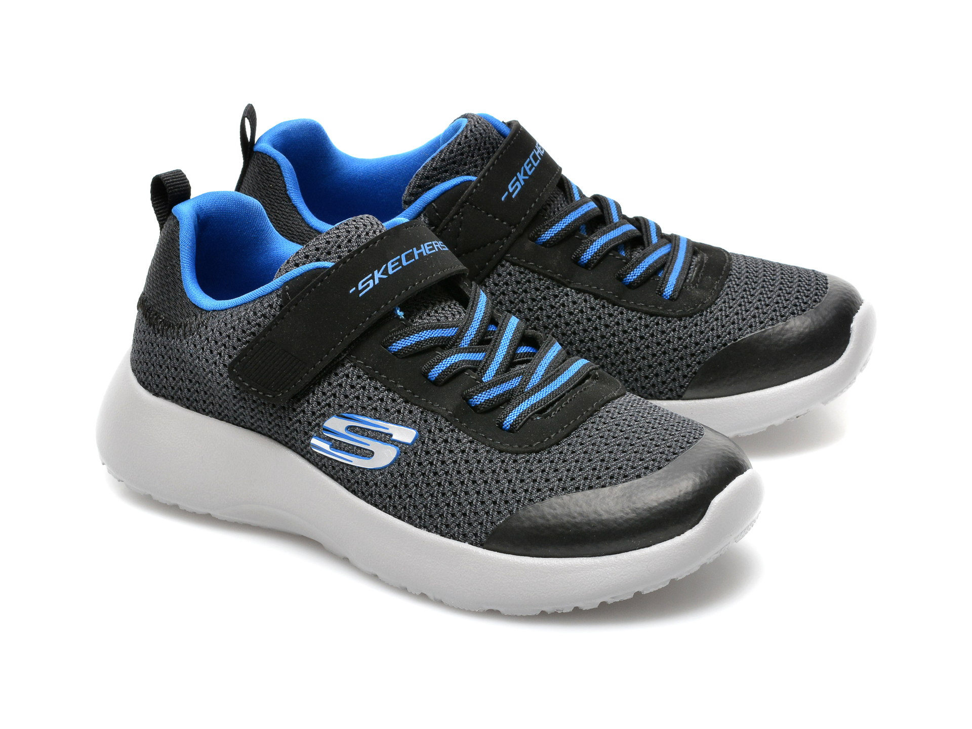 Pantofi sport SKECHERS negri, Dynamight, din material textil - 4