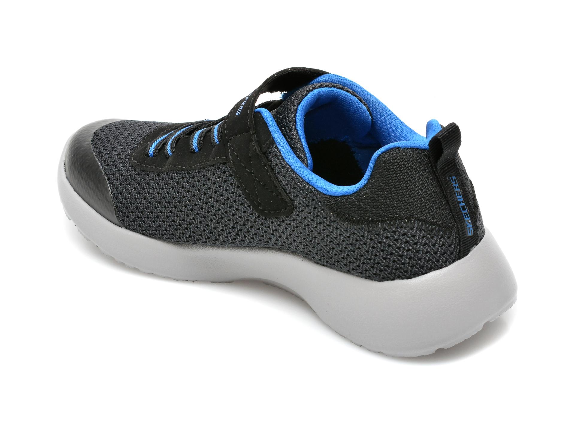 Pantofi sport SKECHERS negri, Dynamight, din material textil - 5