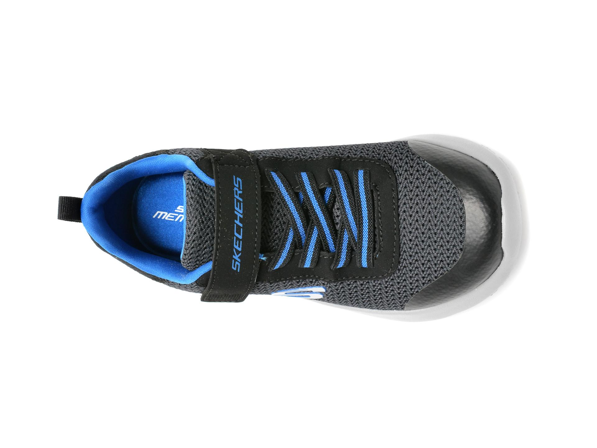 Pantofi sport SKECHERS negri, Dynamight, din material textil - 6