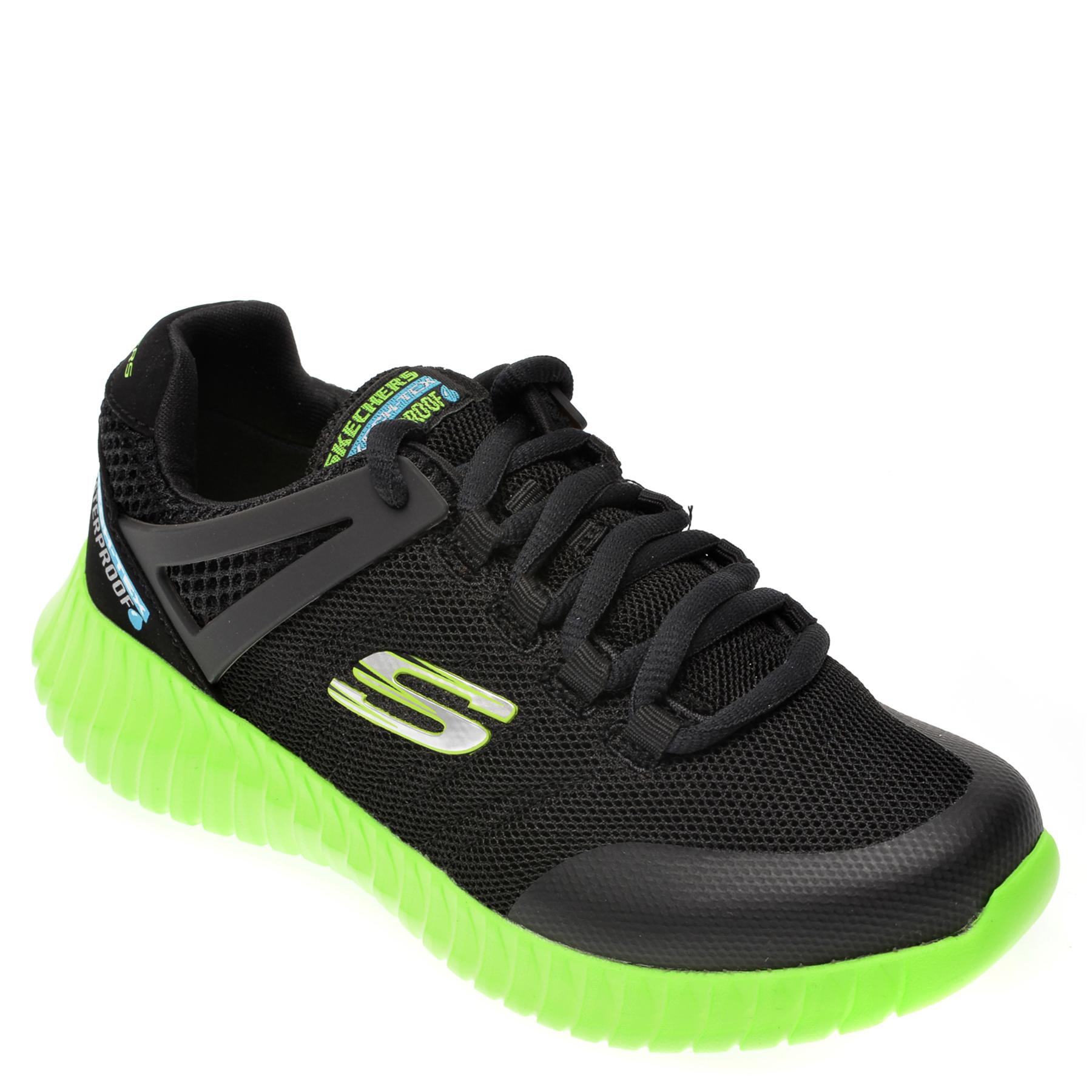 Pantofi sport SKECHERS negri, Elite Flex Hydropulse, din material textil New