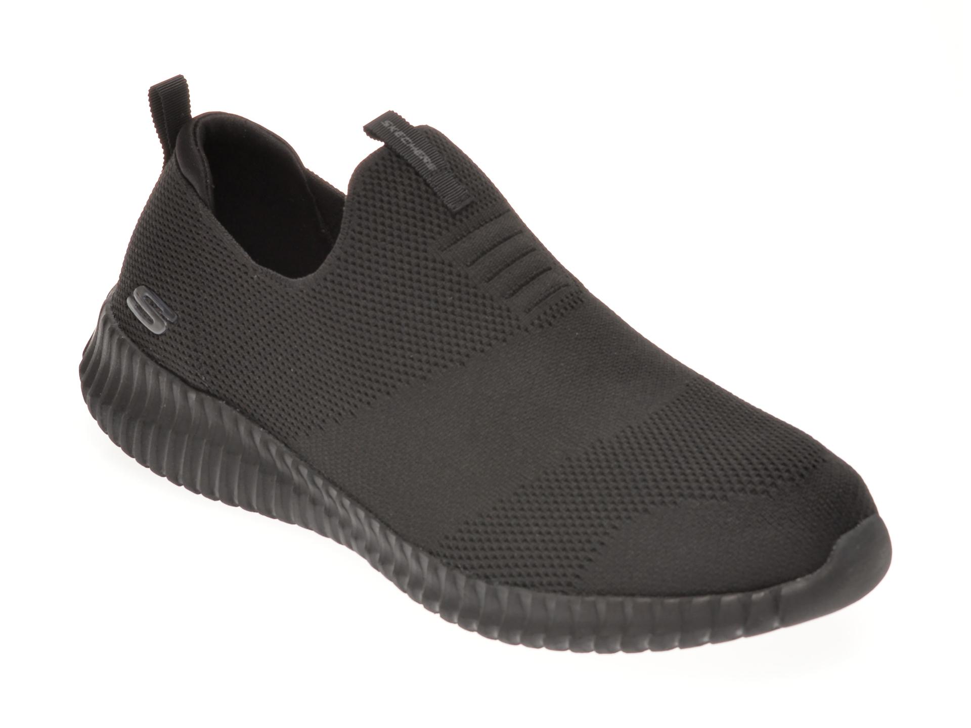Pantofi sport SKECHERS negri, ELITE FLEX WASIK, din material textil imagine otter.ro