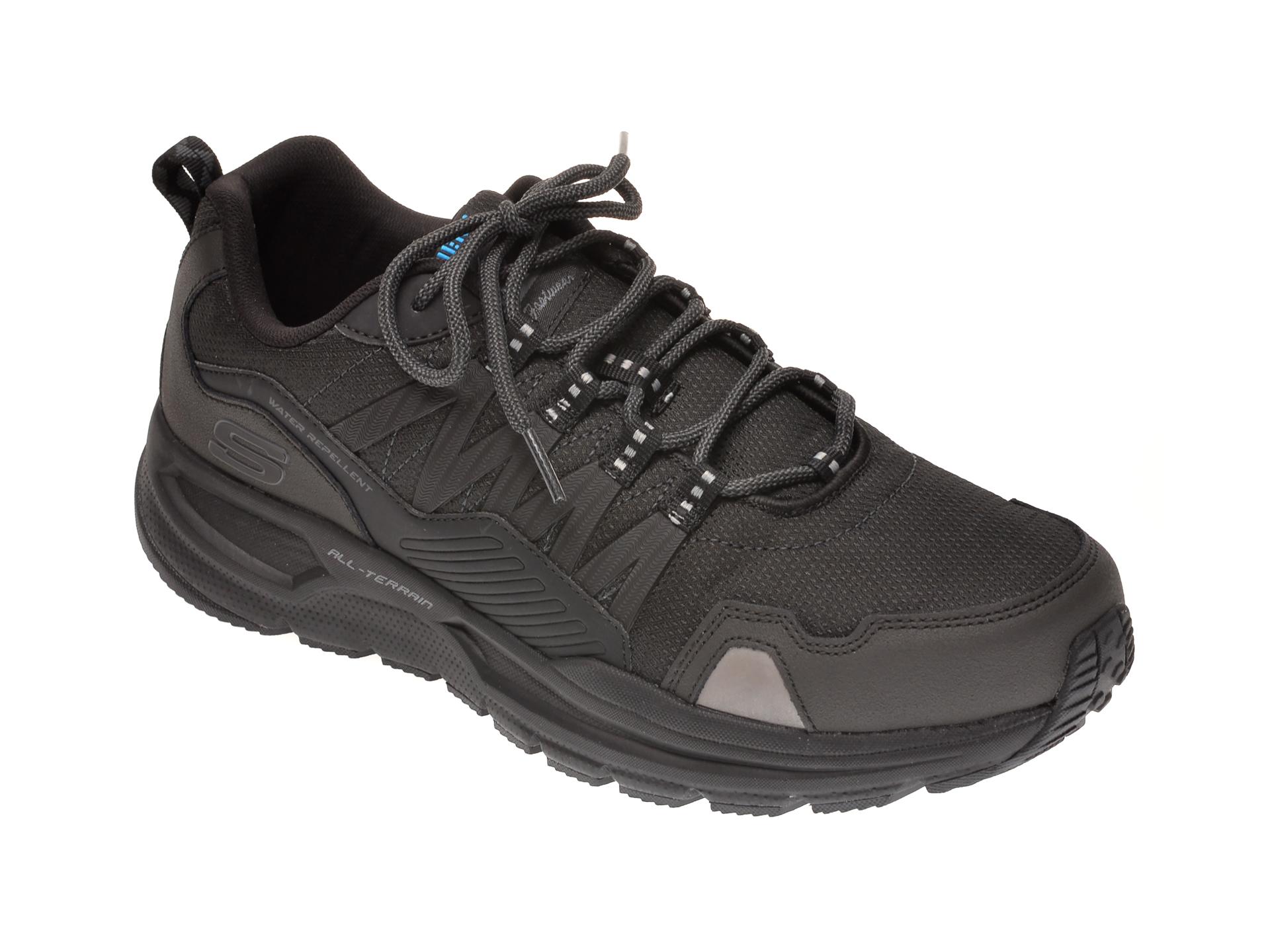 Pantofi sport SKECHERS negri, ESCAPE PLAN 2.0 ASHWICK, din material textil si piele naturala imagine