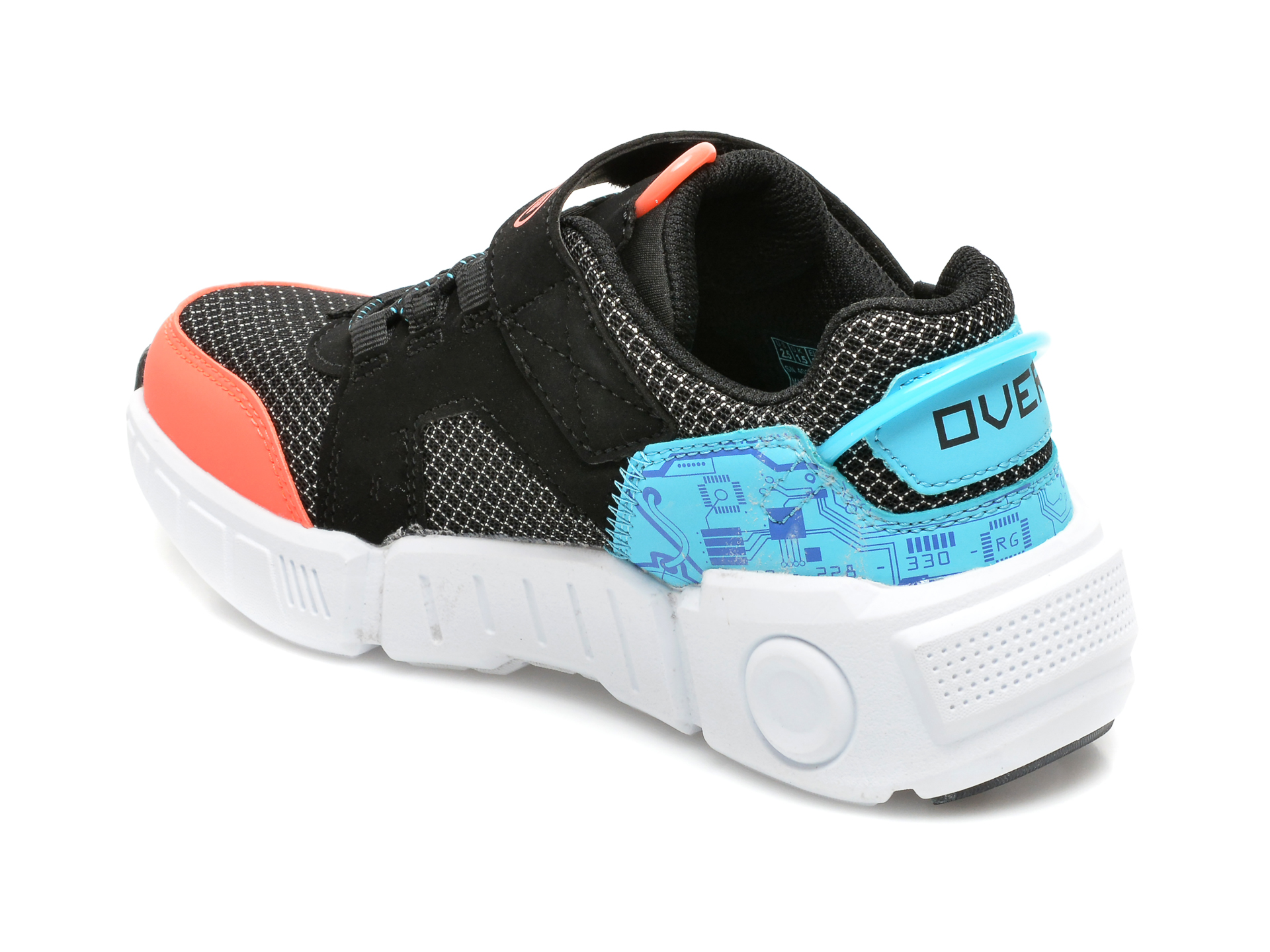 Pantofi sport SKECHERS negri, GAMETRONIX, din material textil si piele ecologica - 5