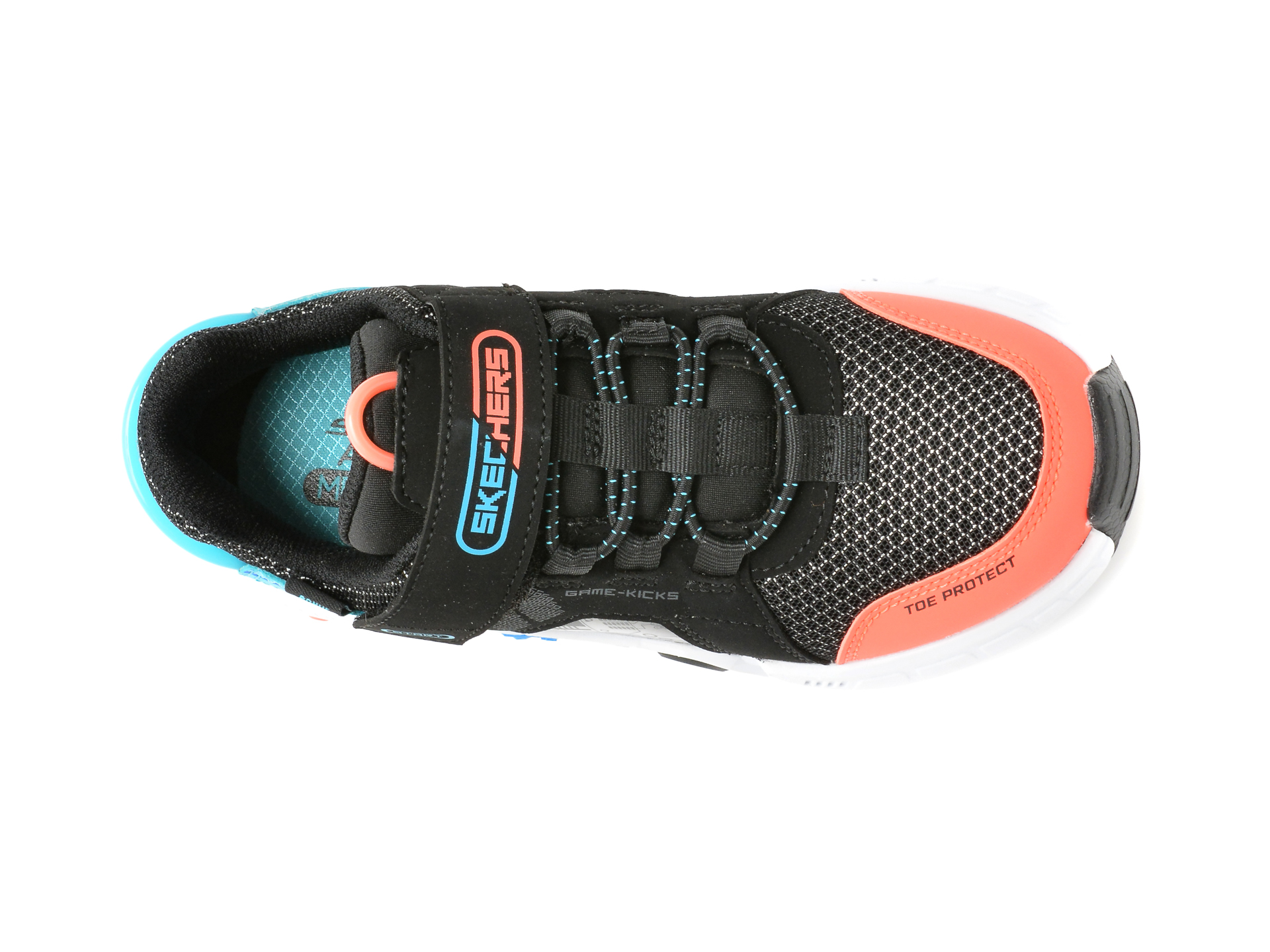 Pantofi sport SKECHERS negri, GAMETRONIX, din material textil si piele ecologica - 6