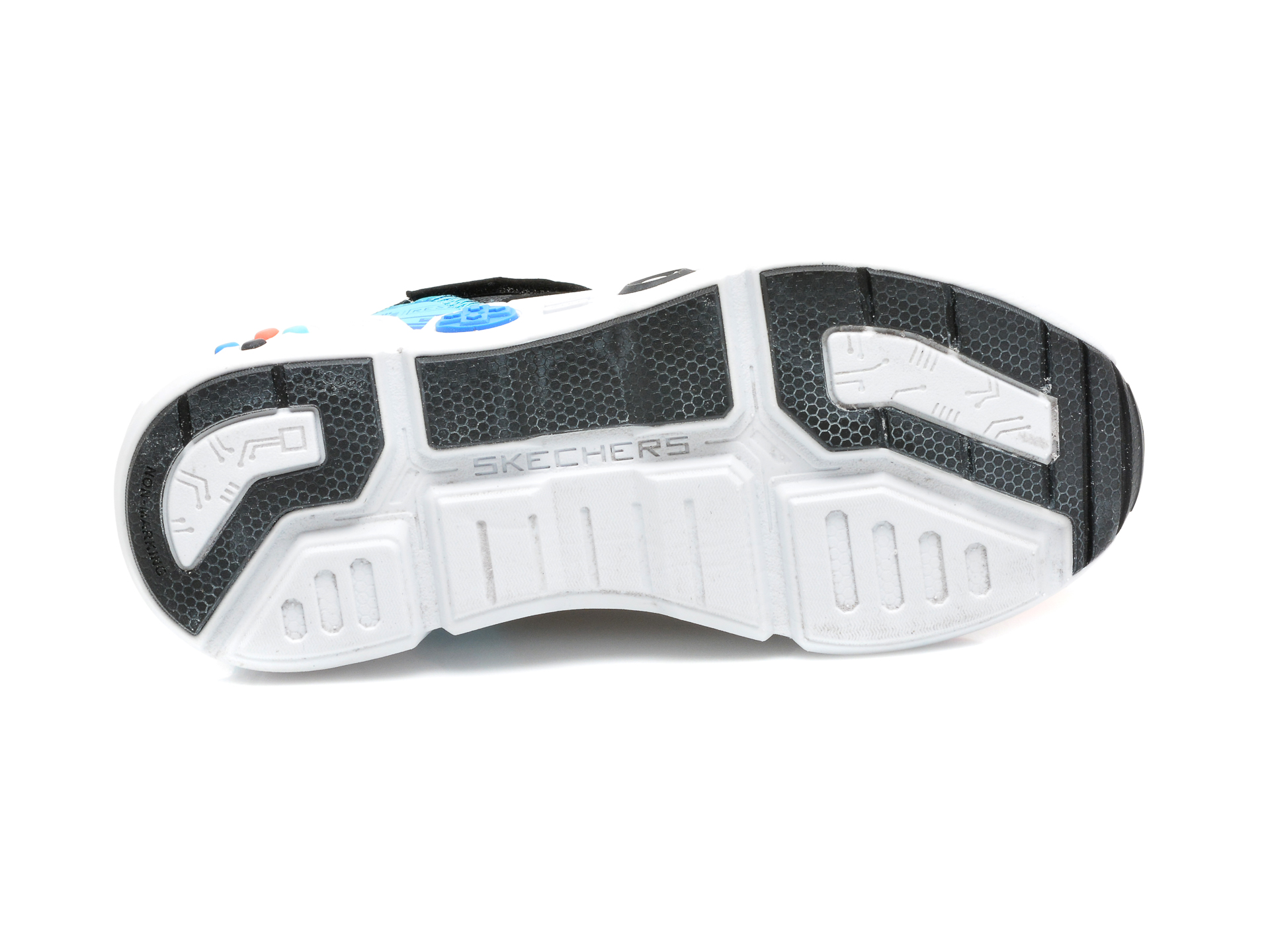 Pantofi sport SKECHERS negri, GAMETRONIX, din material textil si piele ecologica - 7