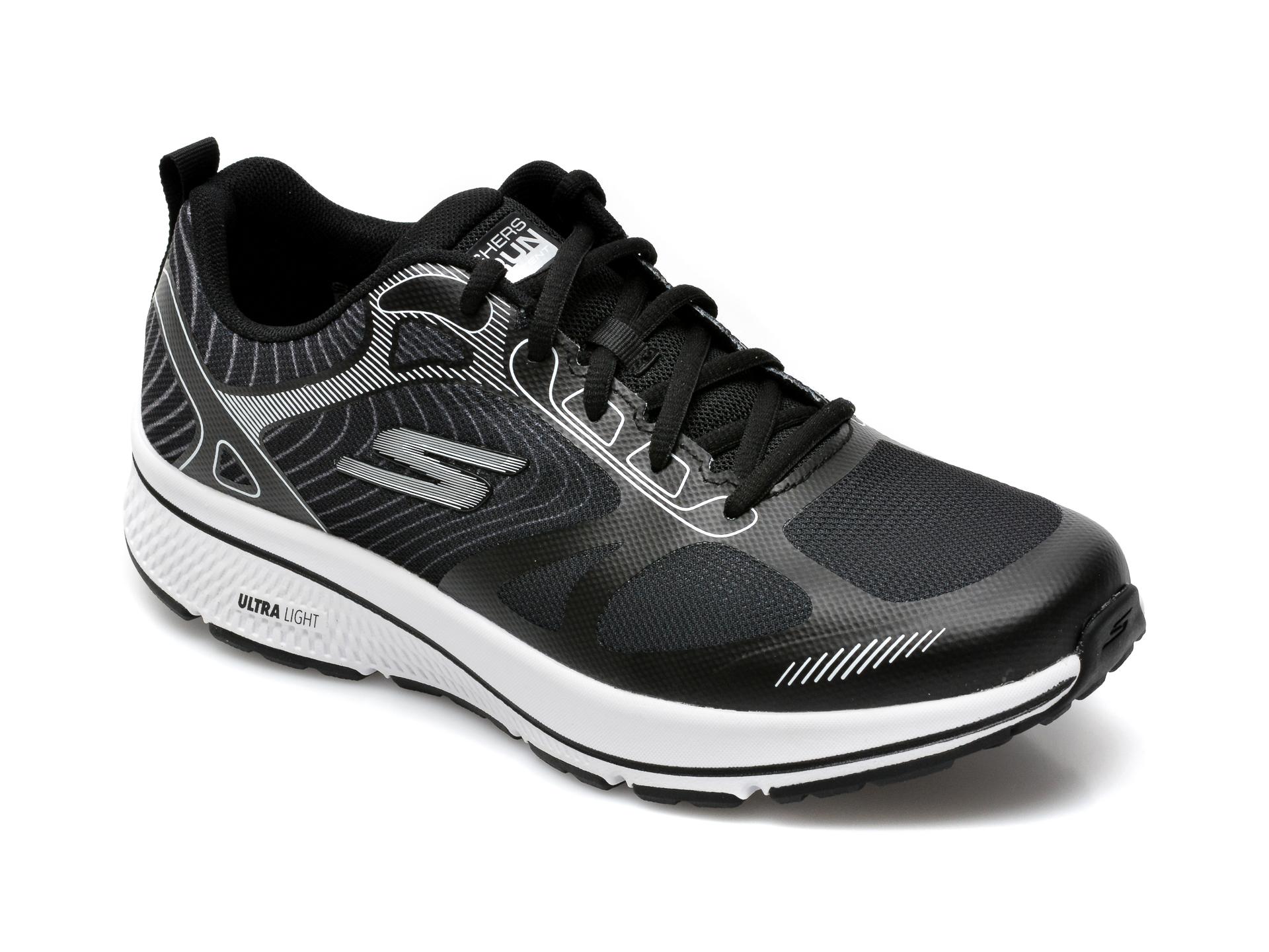 Pantofi sport SKECHERS negri, Go Run Consistent Fleet Rush, din material textil imagine