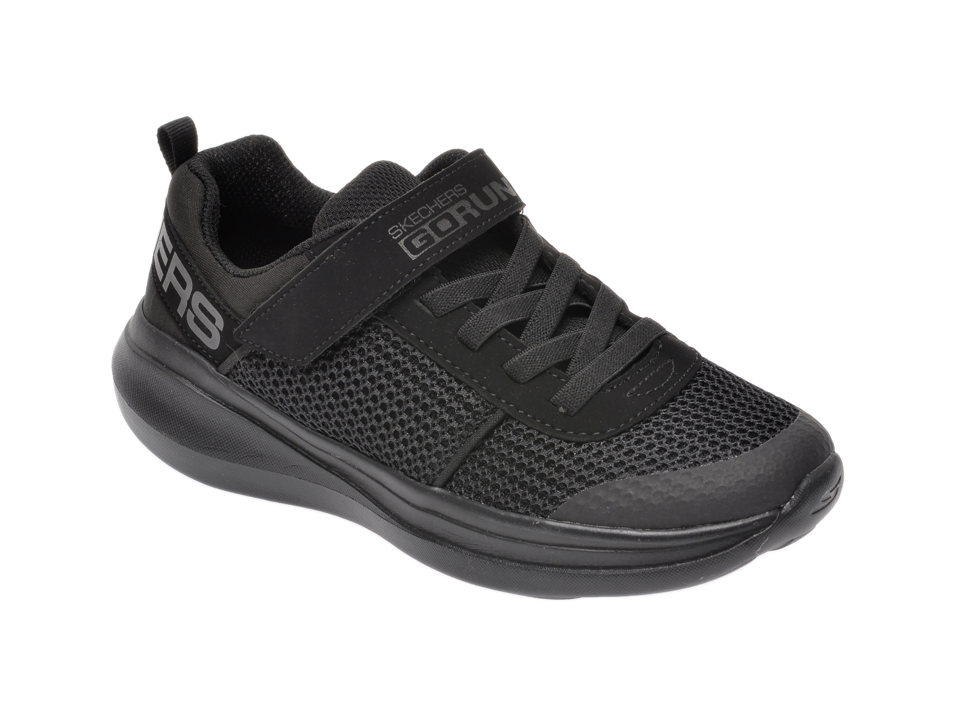 Pantofi sport SKECHERS negri, Go Run Fast Denzo, din material textil imagine otter.ro