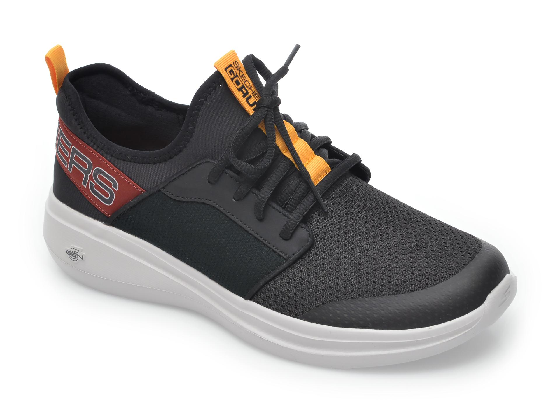 Pantofi sport SKECHERS negri, Go Run Fast Steadfast, din material textil imagine
