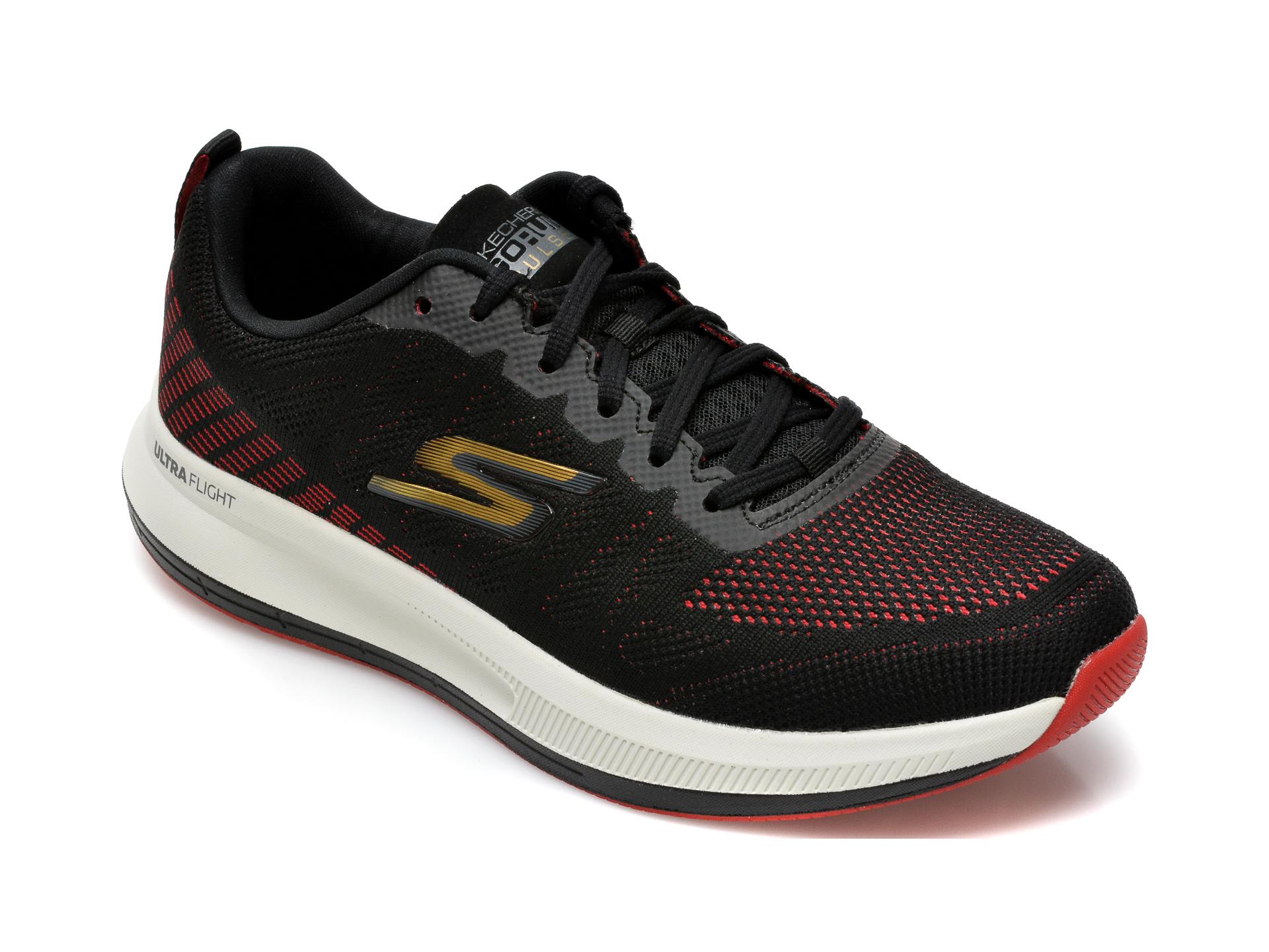 Pantofi sport SKECHERS negri, Go Run Pulsestrada, din material textil imagine