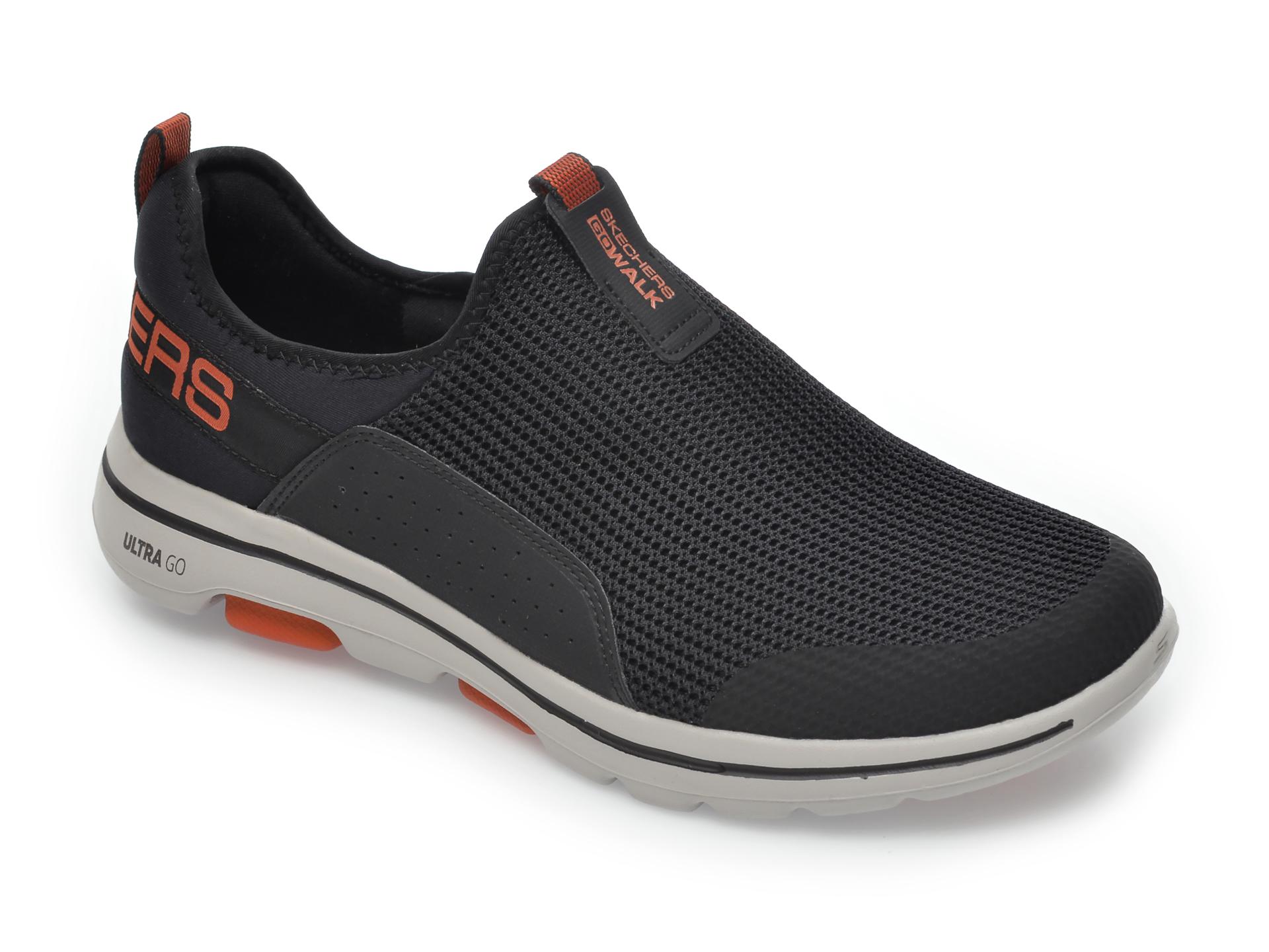 Pantofi sport SKECHERS negri, Go Walk, din material textil imagine
