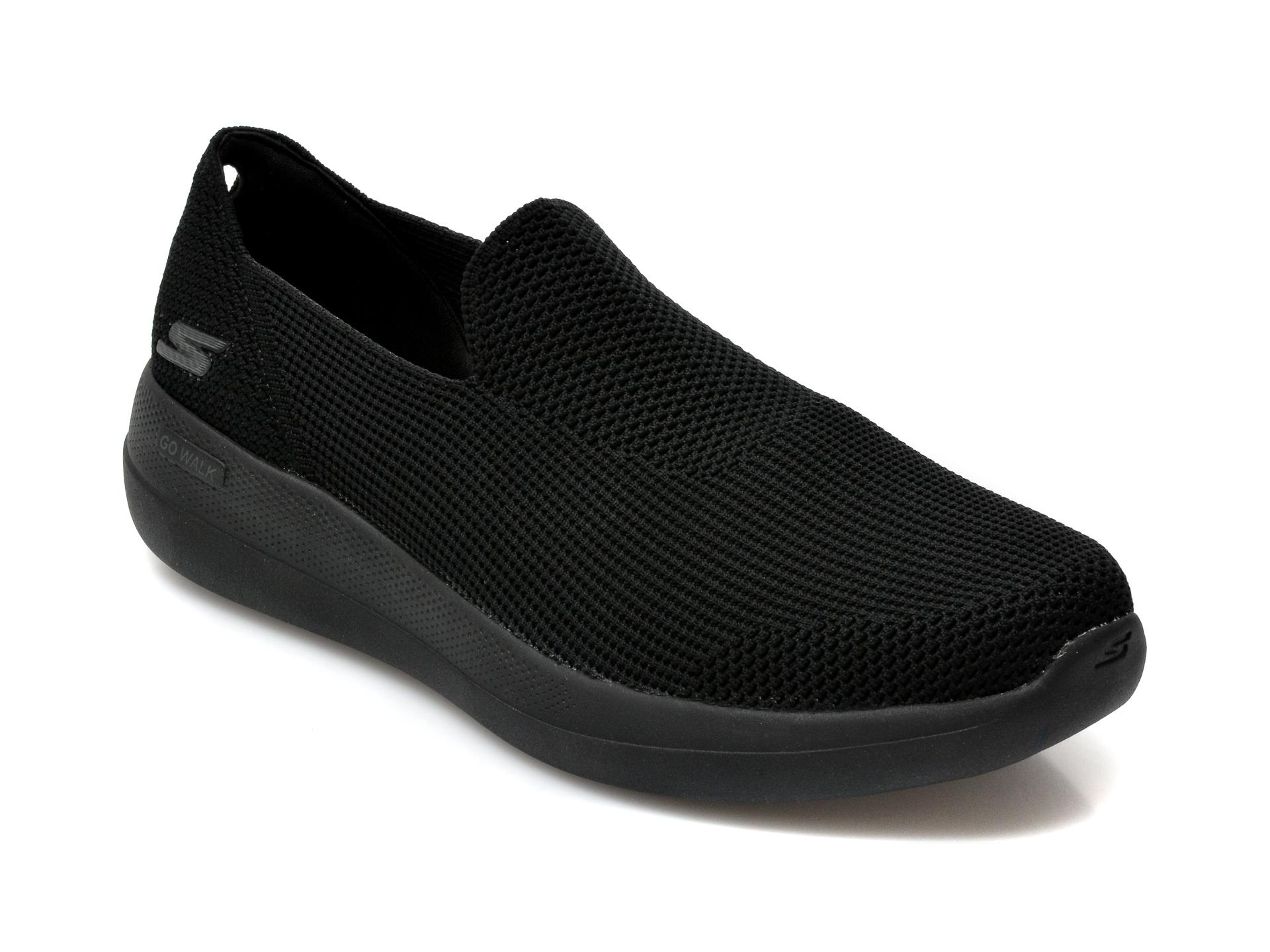 Pantofi sport SKECHERS negri, Go Walk Max Deluxe, din material textil imagine 2021 otter.ro