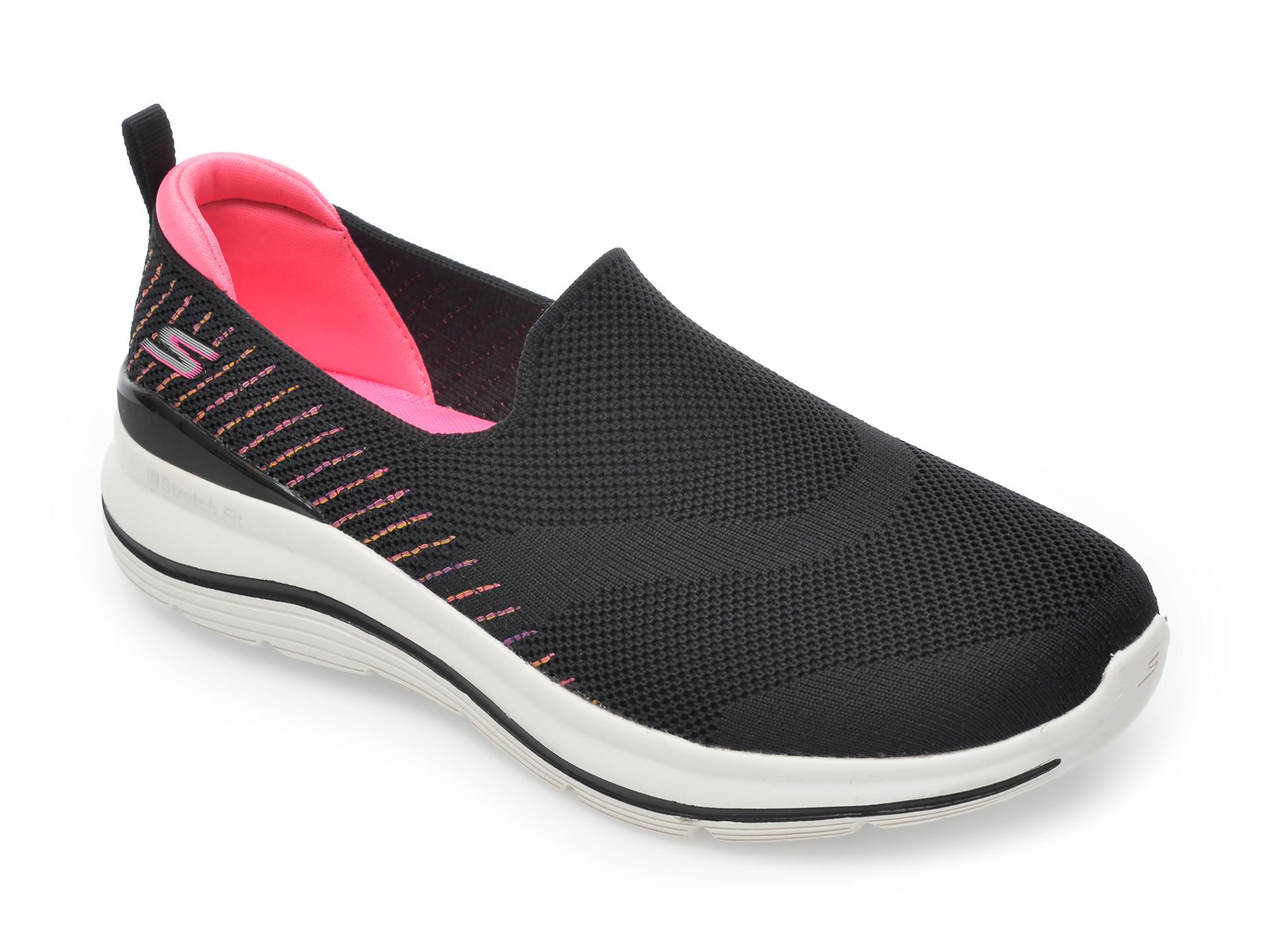 Pantofi sport SKECHERS negri, Go Walk Stretch Fit Special Day, din material textil imagine otter.ro