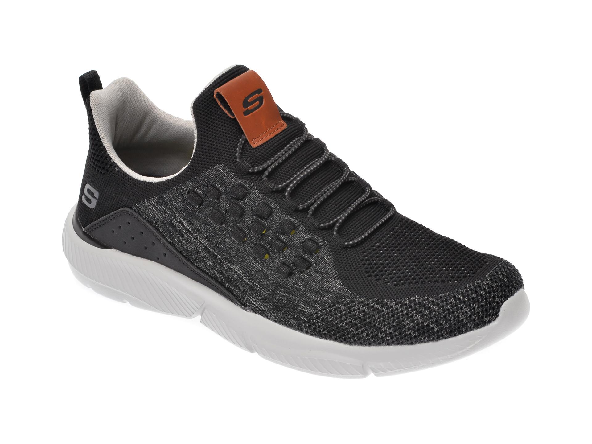 Pantofi sport SKECHERS negri, Ingram Streetway, din material textil imagine