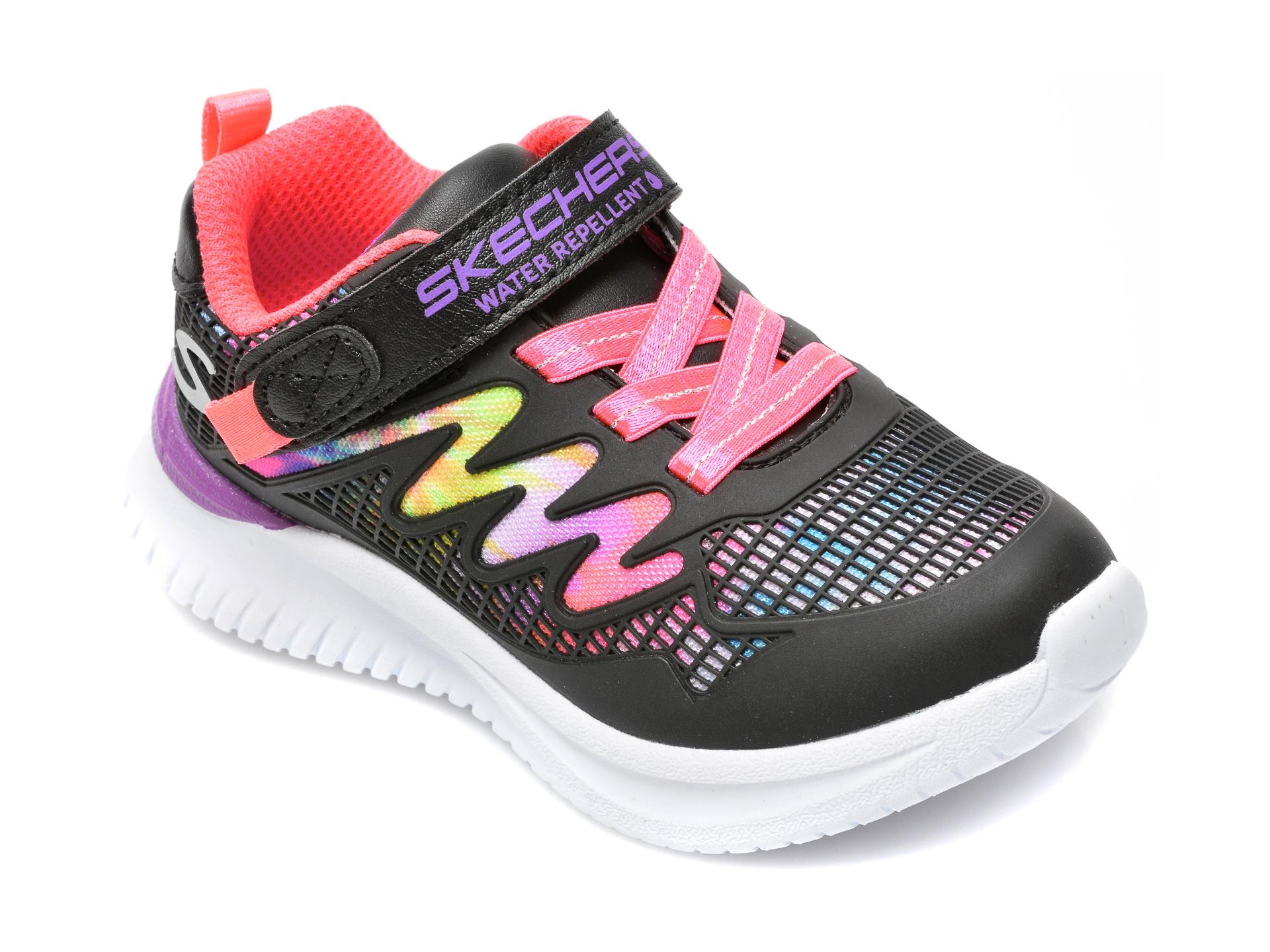 Pantofi sport SKECHERS negri, JUMPSTERS, din piele ecologica