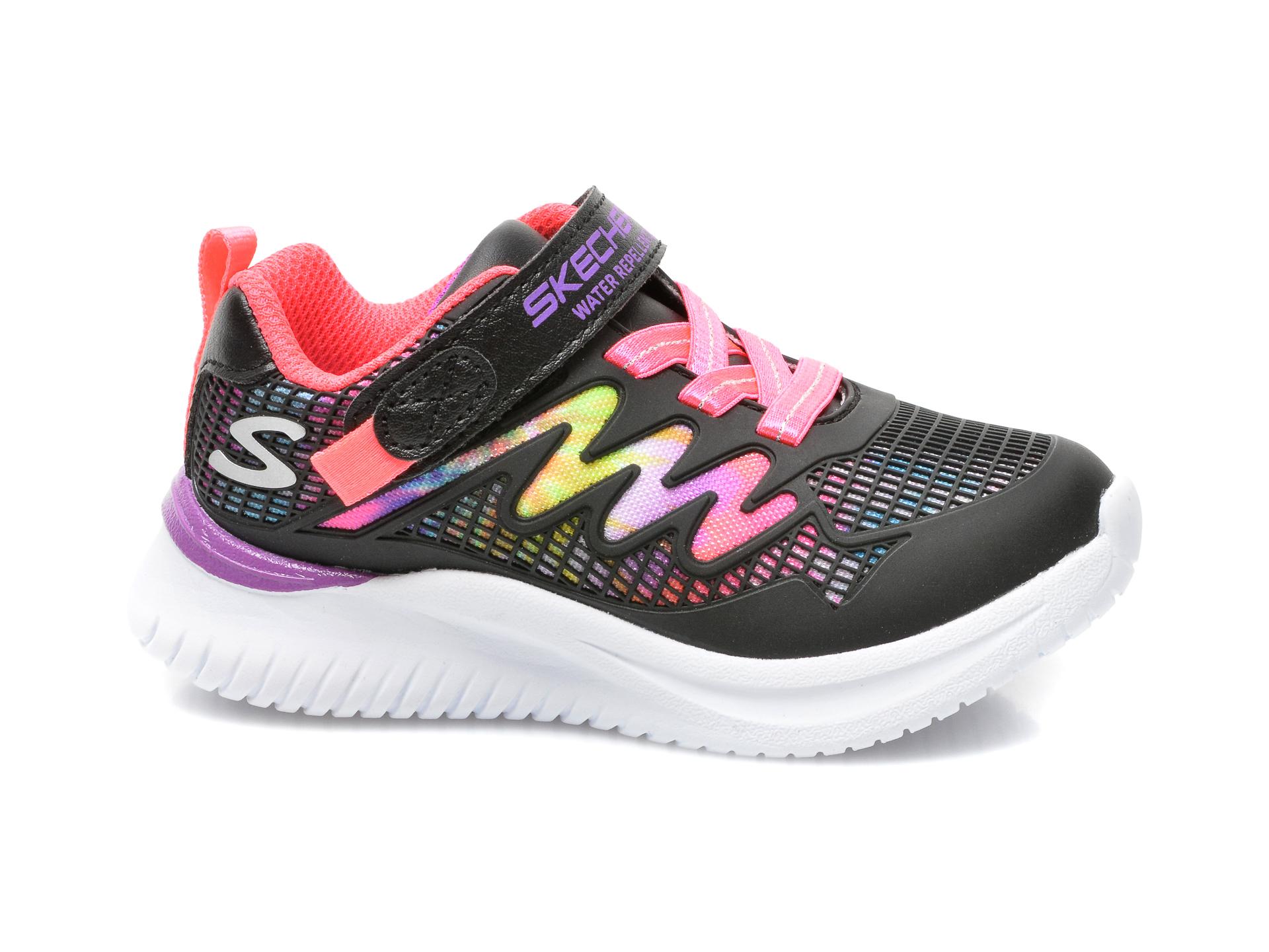 Pantofi sport SKECHERS negri, JUMPSTERS, din piele ecologica - 1
