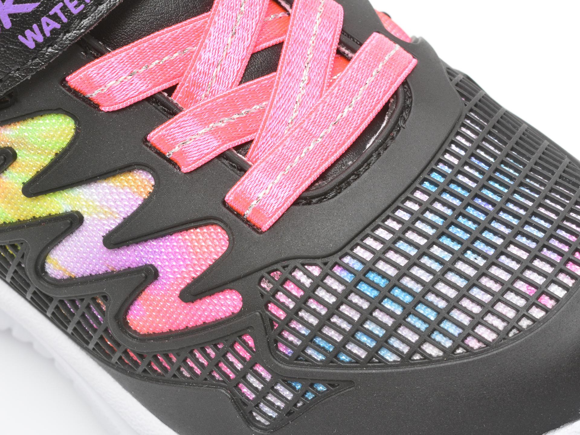 Pantofi sport SKECHERS negri, JUMPSTERS, din piele ecologica - 2