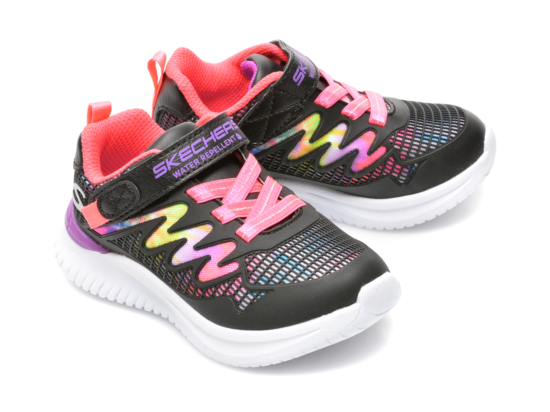 Pantofi sport SKECHERS negri, JUMPSTERS, din piele ecologica - 4