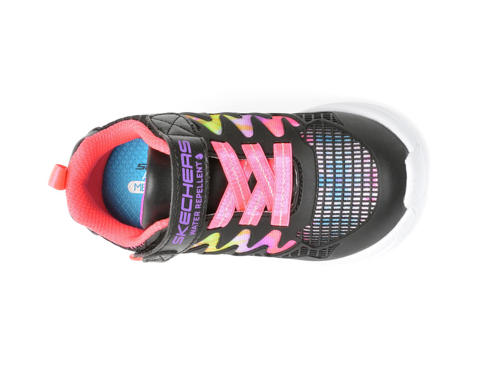 Pantofi sport SKECHERS negri, JUMPSTERS, din piele ecologica - 6