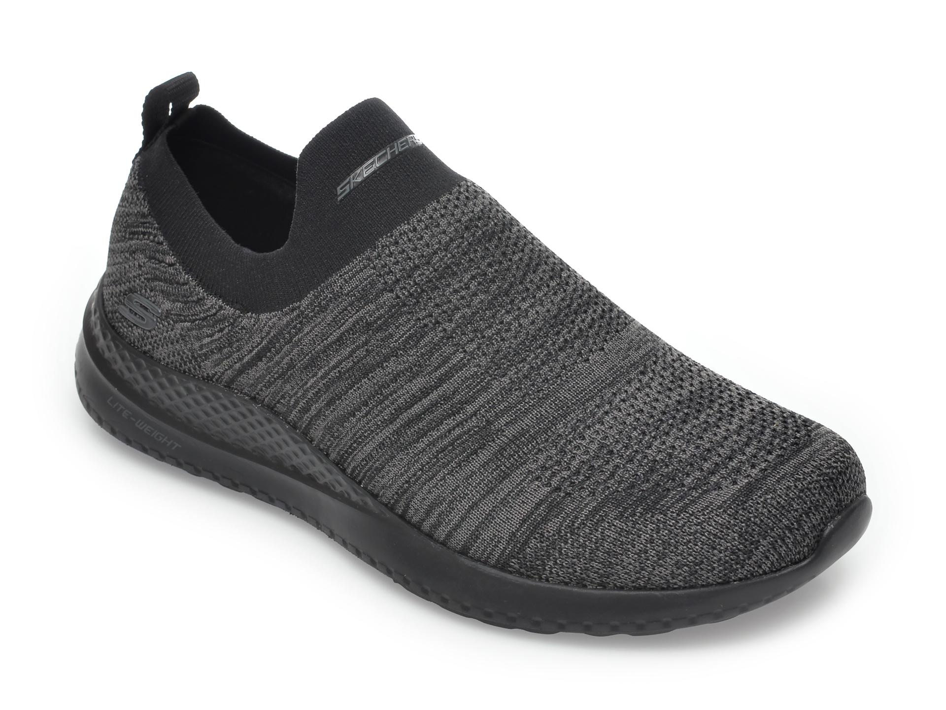 Pantofi sport SKECHERS negri, Matera Graftel, din material textil imagine