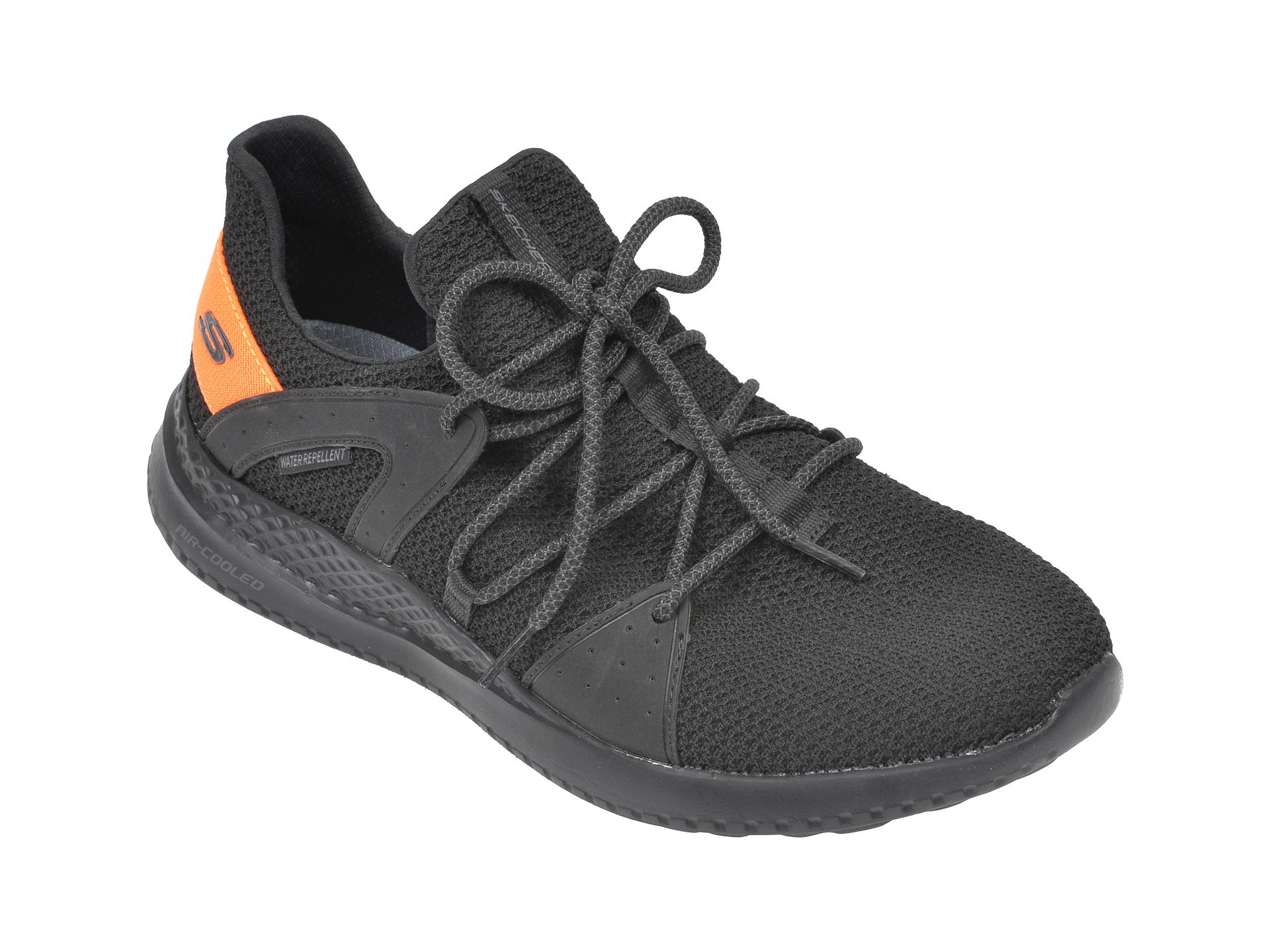 Pantofi sport SKECHERS negri, Materam Strongland, din material textil imagine