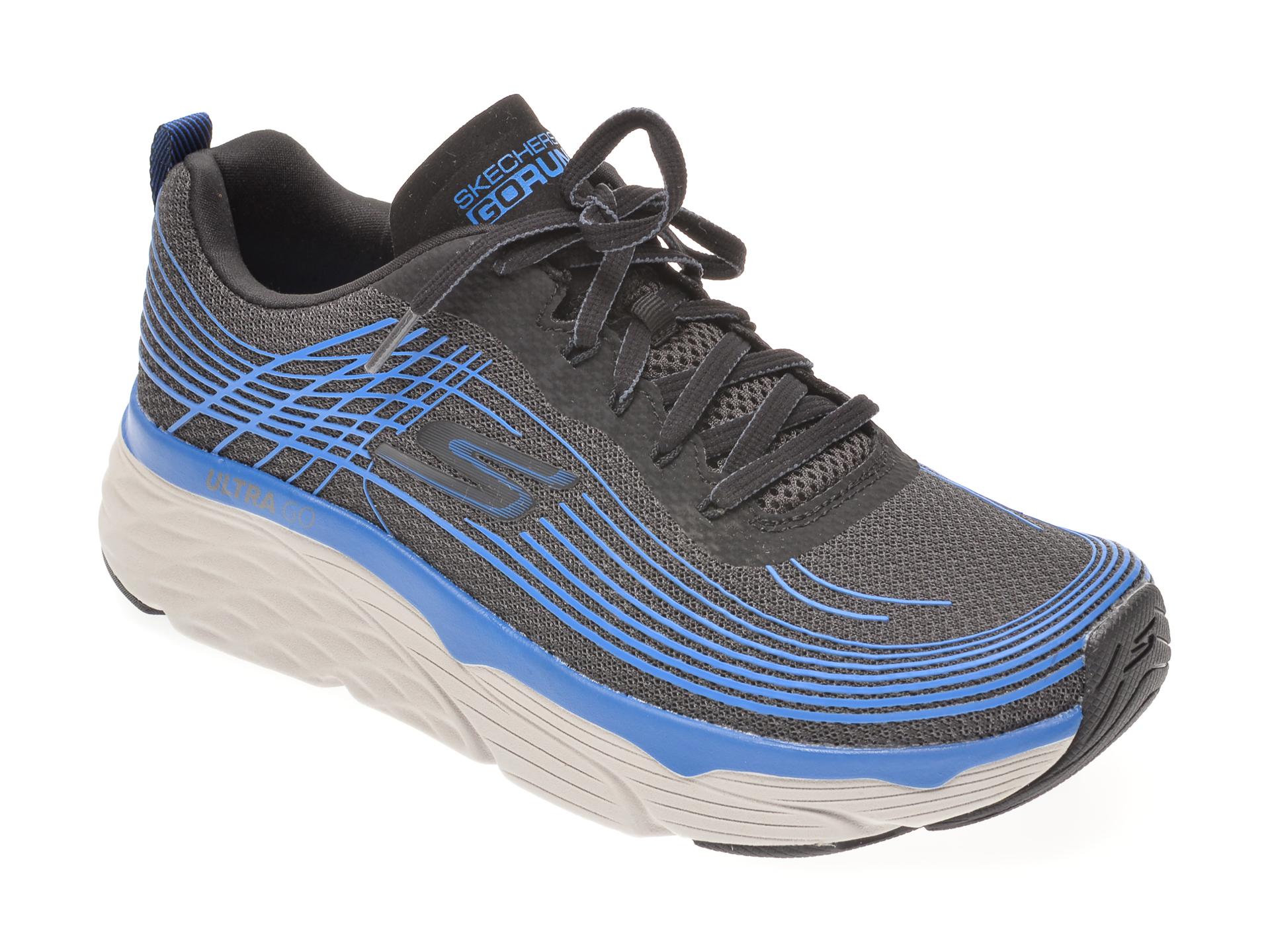 Pantofi sport SKECHERS negri, MAX CUSHIONING ELITE, din material textil imagine
