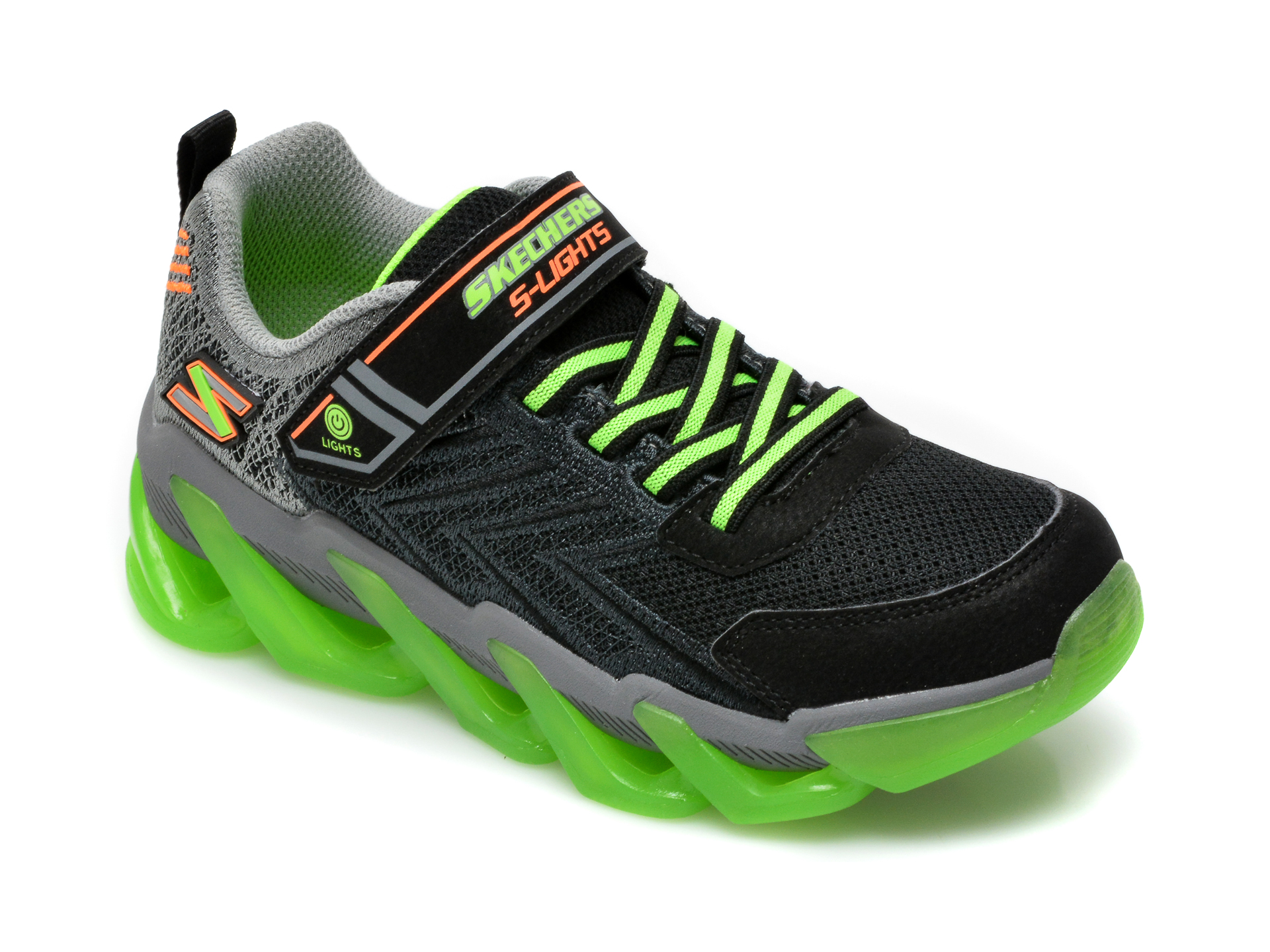 Pantofi sport SKECHERS negri, Mega-Surge, din material textil si piele ecologica