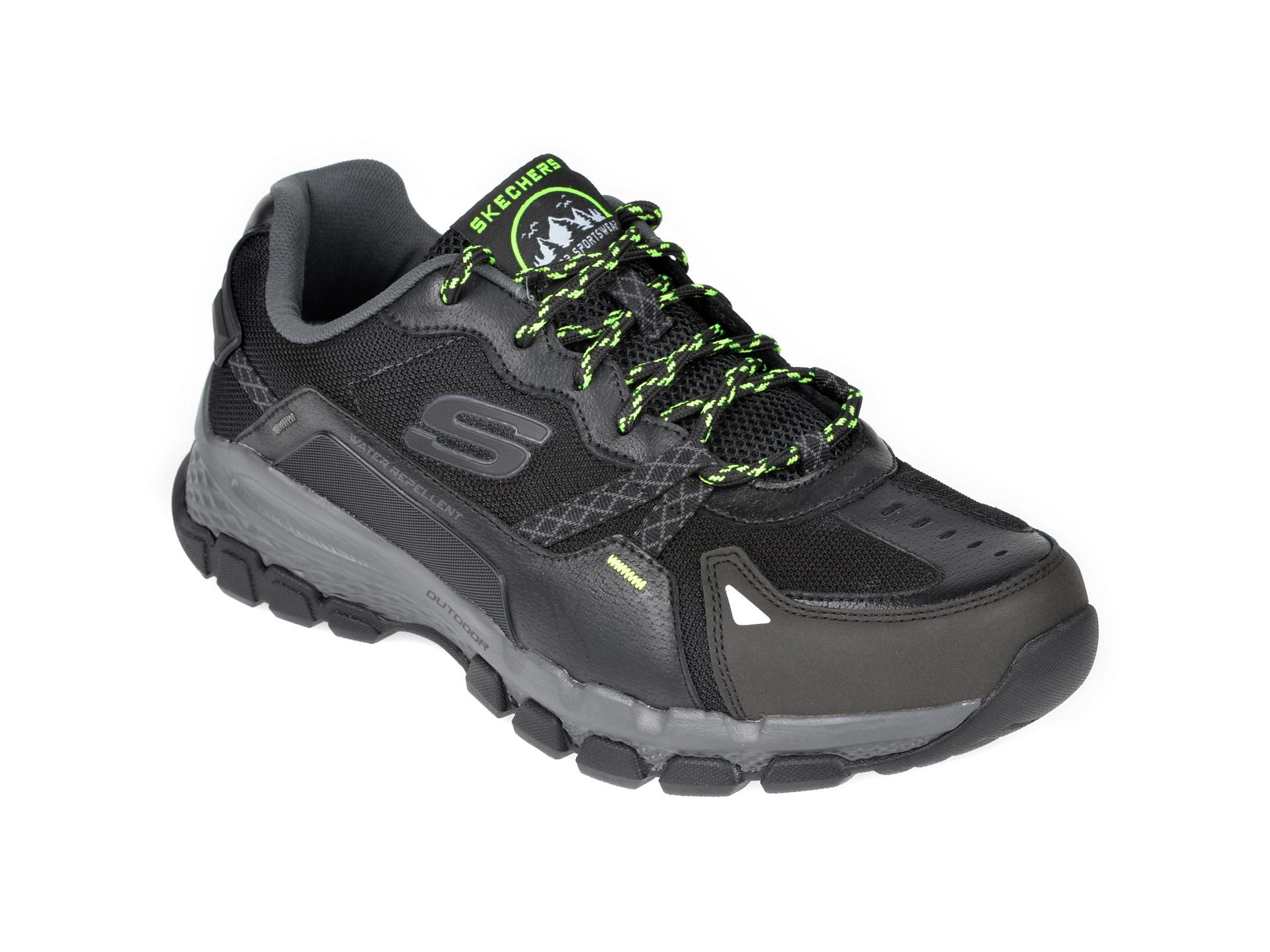 Pantofi sport SKECHERS negri, Outland 2.0 Wynnter, din material textil si piele naturala imagine
