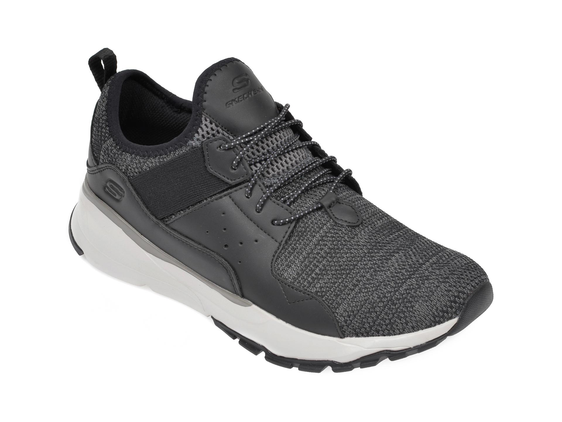 Pantofi sport SKECHERS negri, Relven Arkson, din material textil imagine