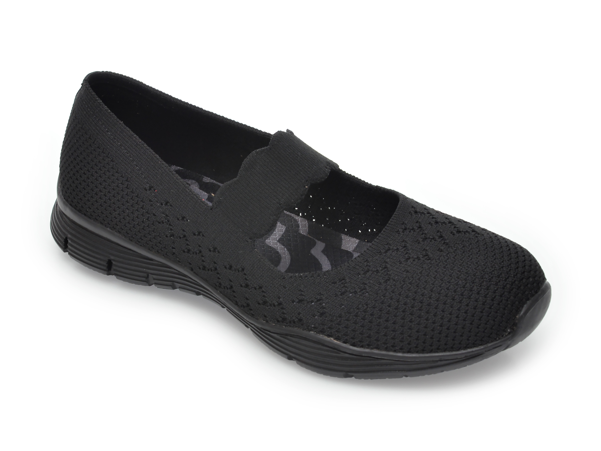 Pantofi sport SKECHERS negri, Seager Power Hitter, din material textil New