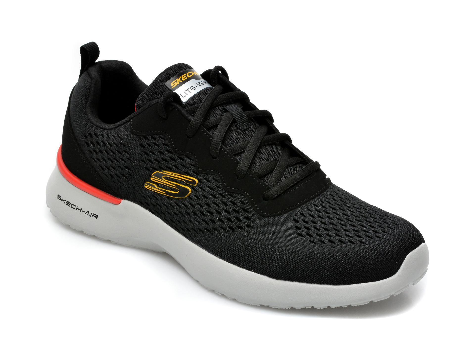 Pantofi sport SKECHERS negri, Skech-Air Dynamight, din material textil imagine