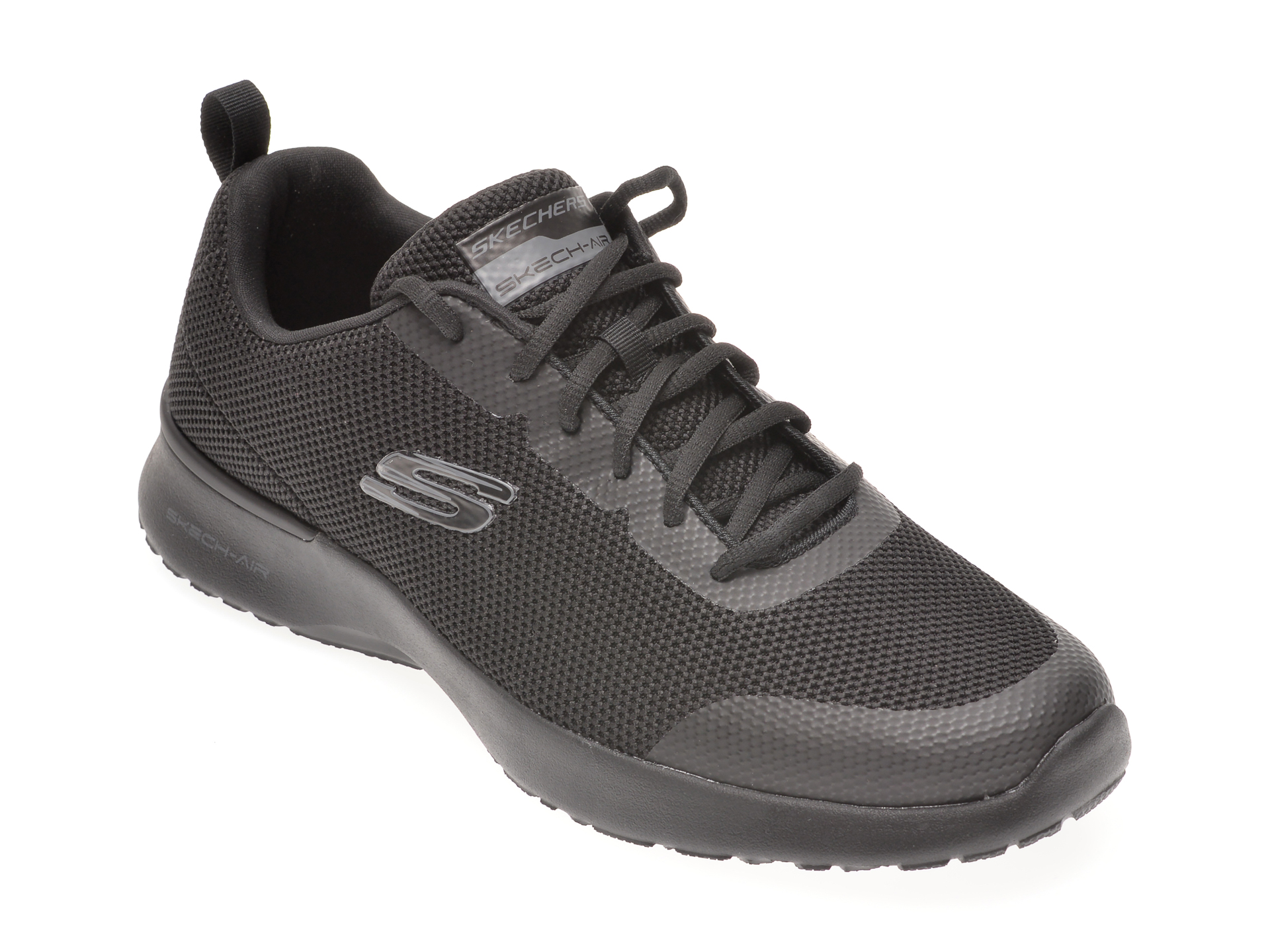Pantofi sport SKECHERS negri, SKECH-AIR DYNAMIGHT WINLY, din material textil imagine
