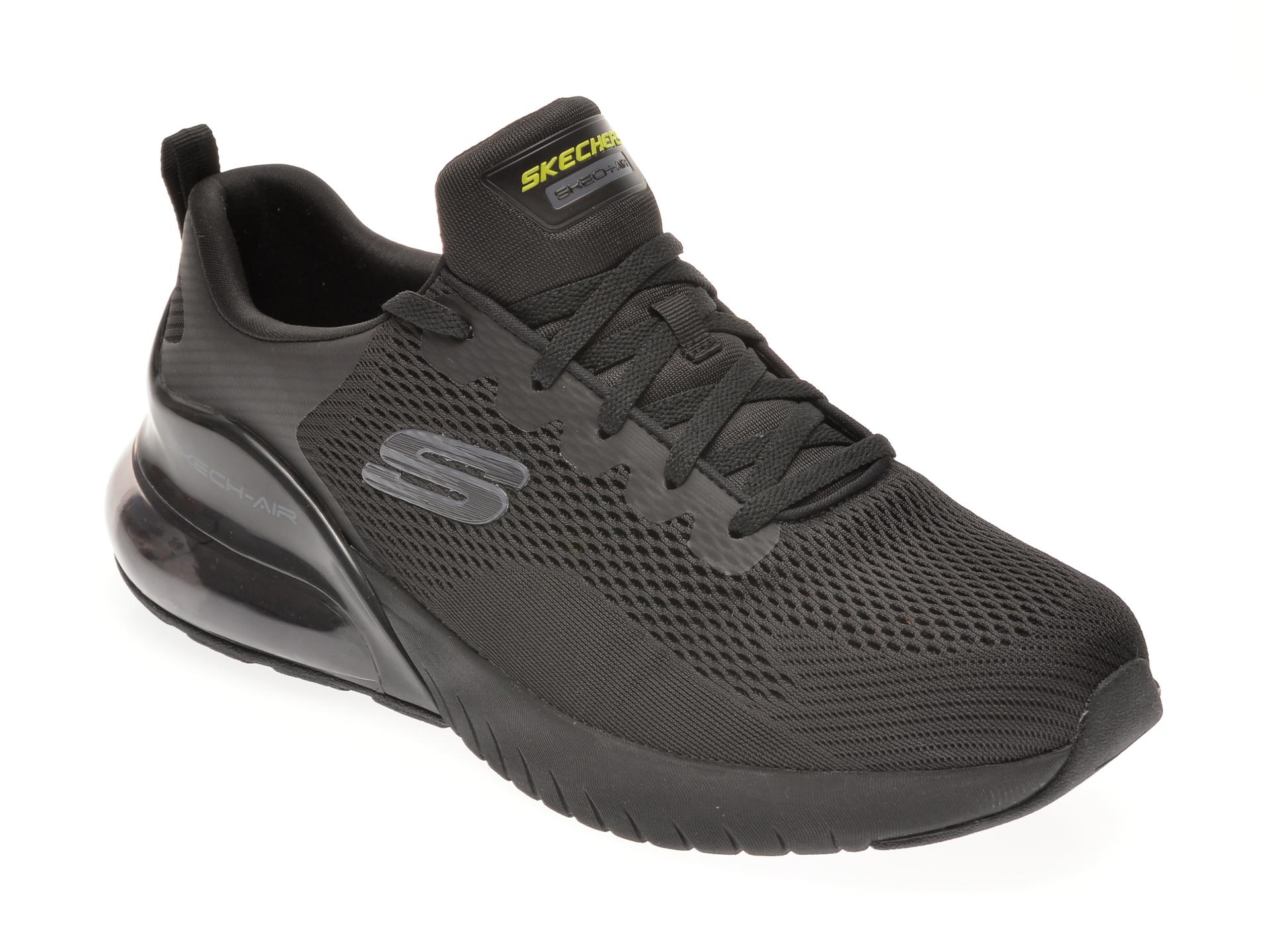 Pantofi sport SKECHERS negri, SKECH-AIR STRATUS, din material textil imagine