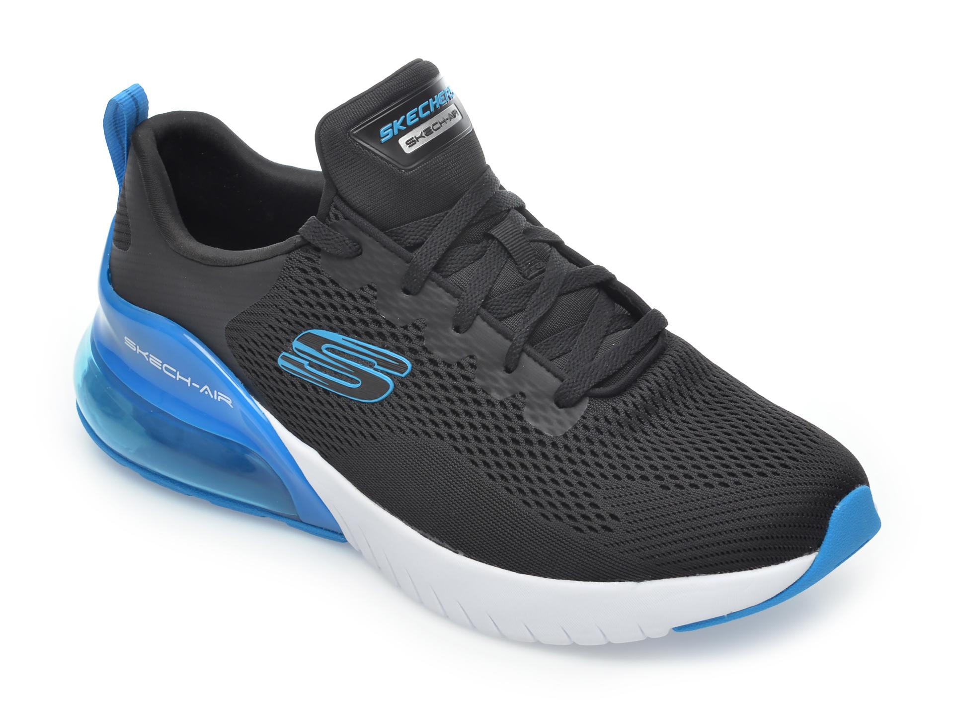 Pantofi sport SKECHERS negri, Skech-Air Stratus Maglev, din material textil imagine