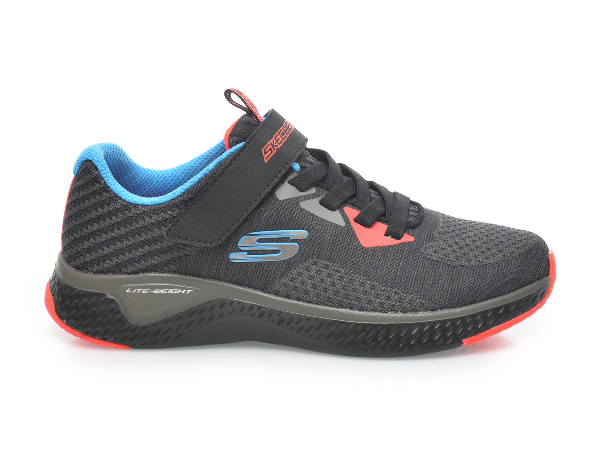 Pantofi sport SKECHERS negri, Solar Fuse Speed Blitz, din material textil - 1