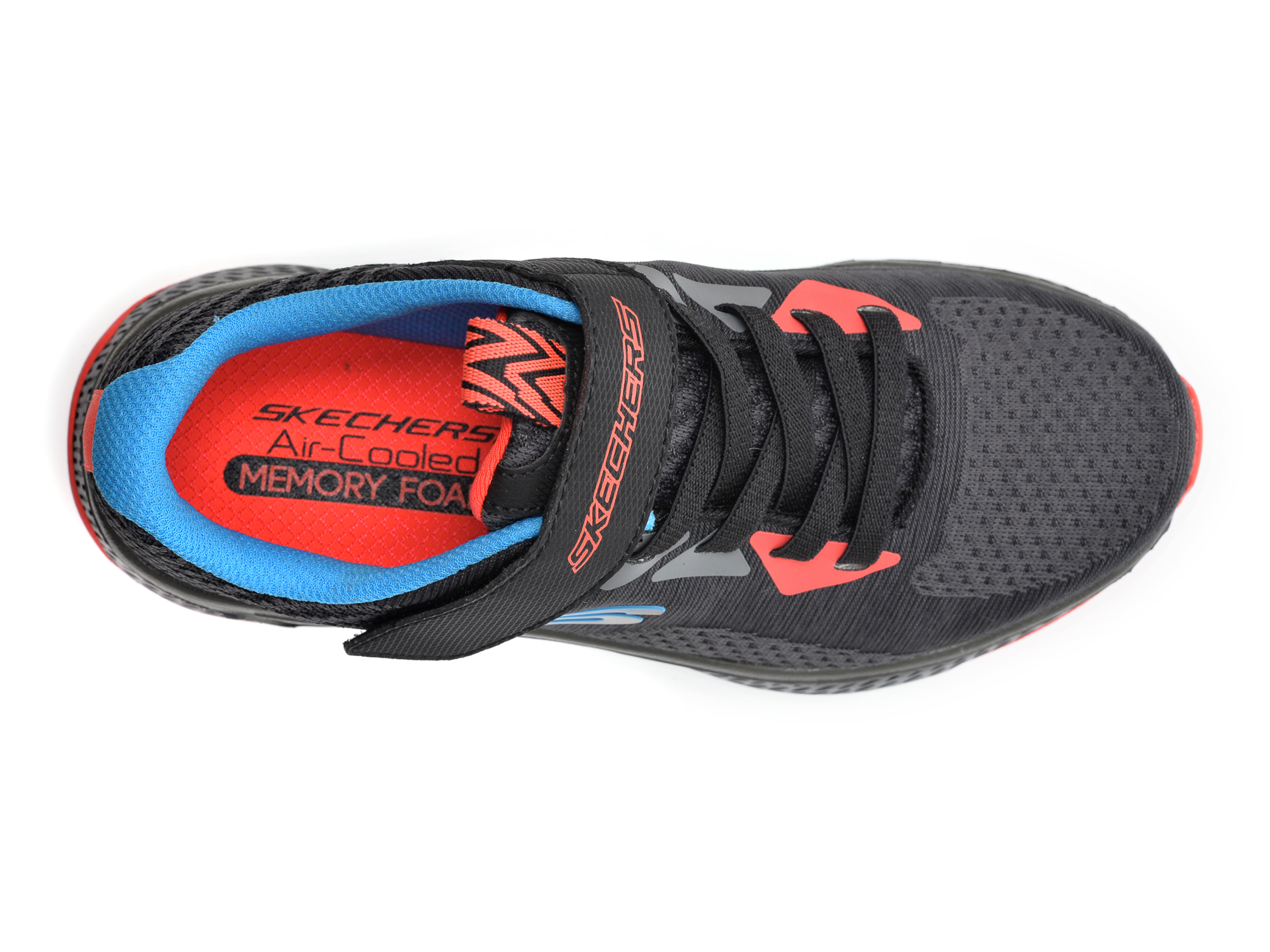 Pantofi sport SKECHERS negri, Solar Fuse Speed Blitz, din material textil - 6