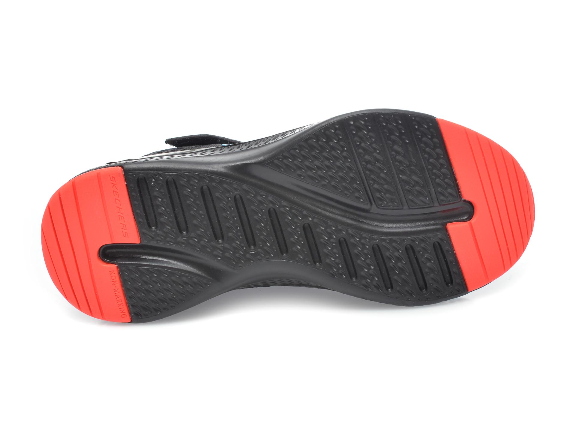 Pantofi sport SKECHERS negri, Solar Fuse Speed Blitz, din material textil - 7