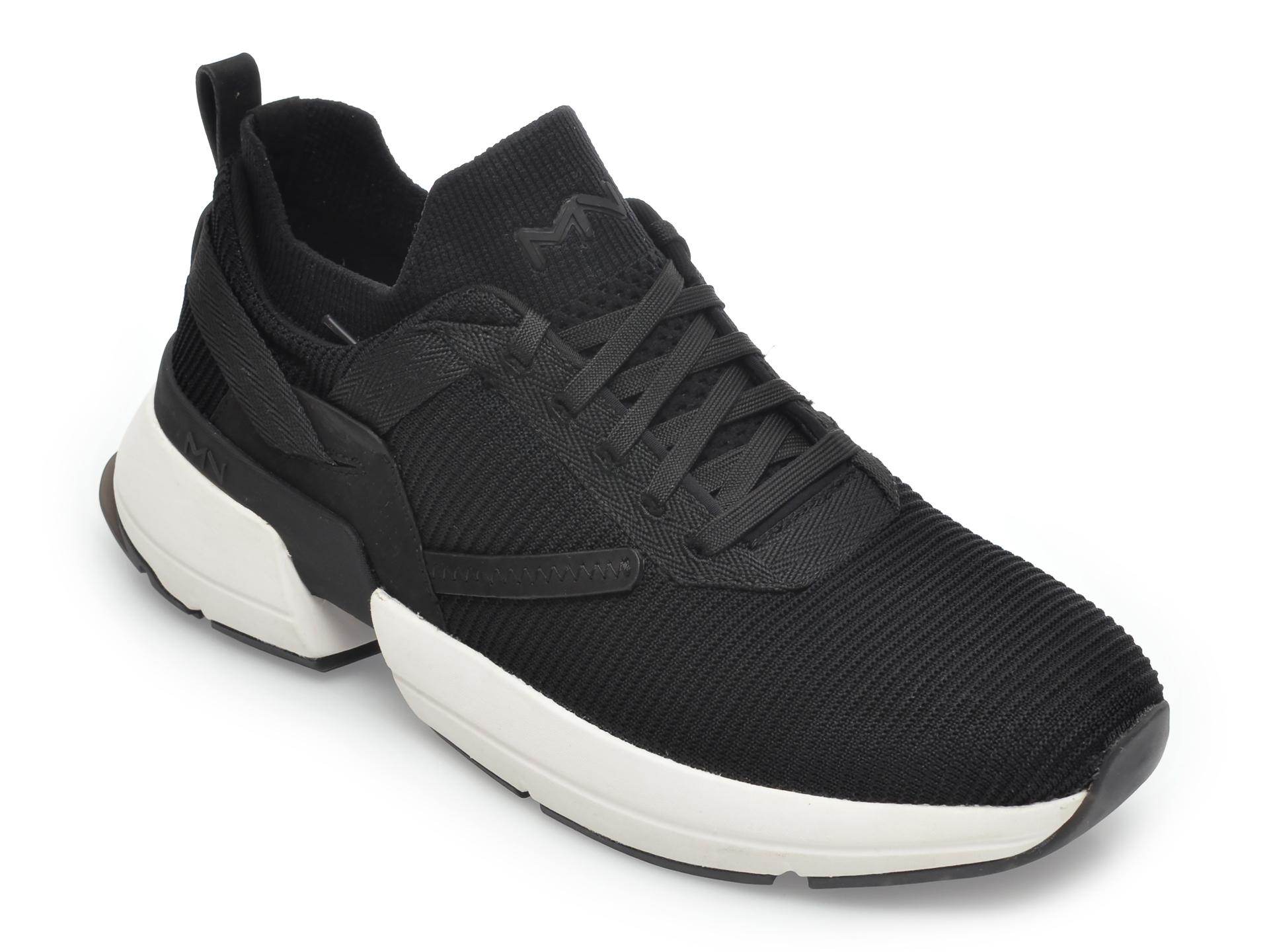 Pantofi sport SKECHERS negri, Splitlitman, din material textil imagine
