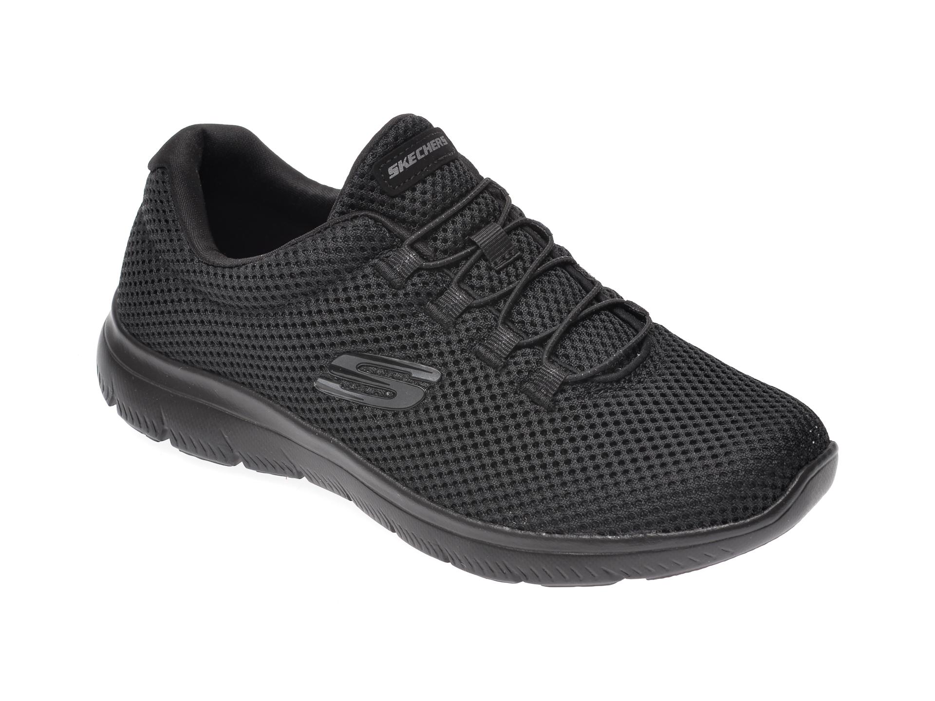 Pantofi sport SKECHERS negri, Summits, din material textil