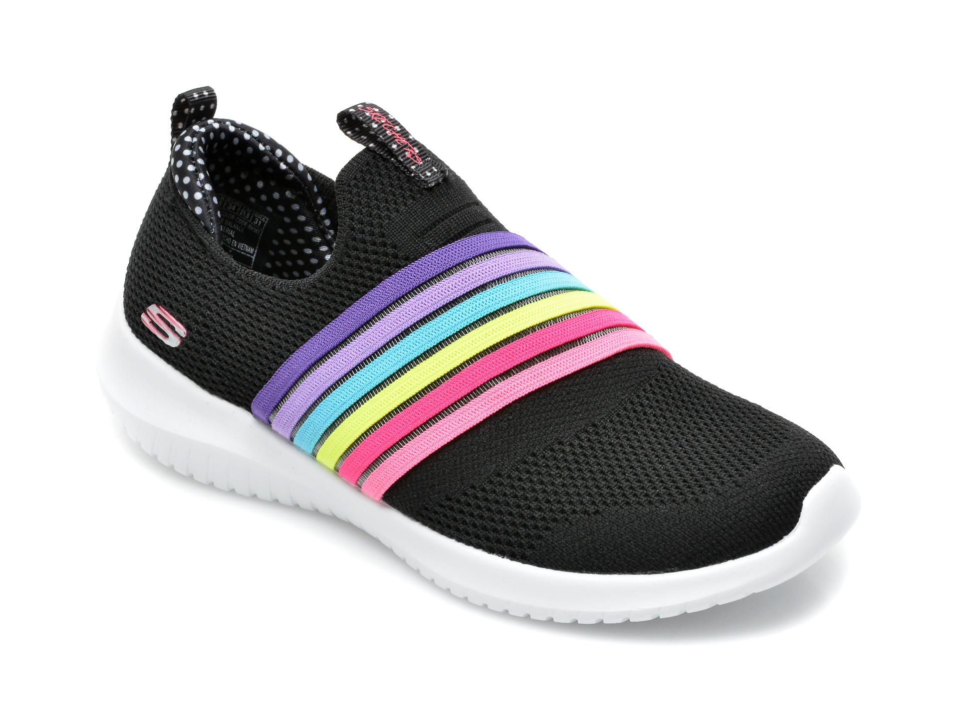 Pantofi sport SKECHERS negri, Ultra Flex Brightful Day, din material textil