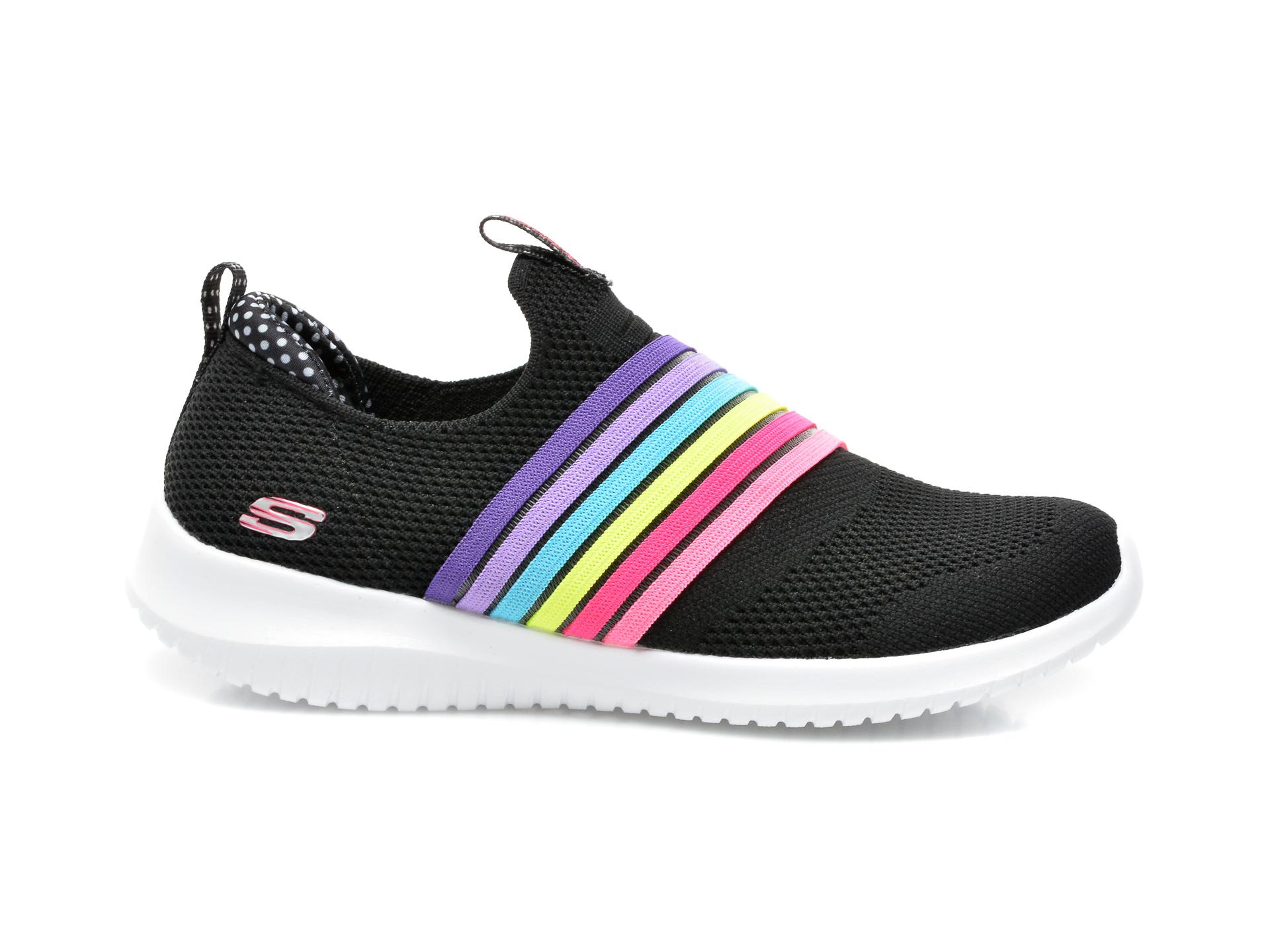 Pantofi sport SKECHERS negri, Ultra Flex Brightful Day, din material textil - 1