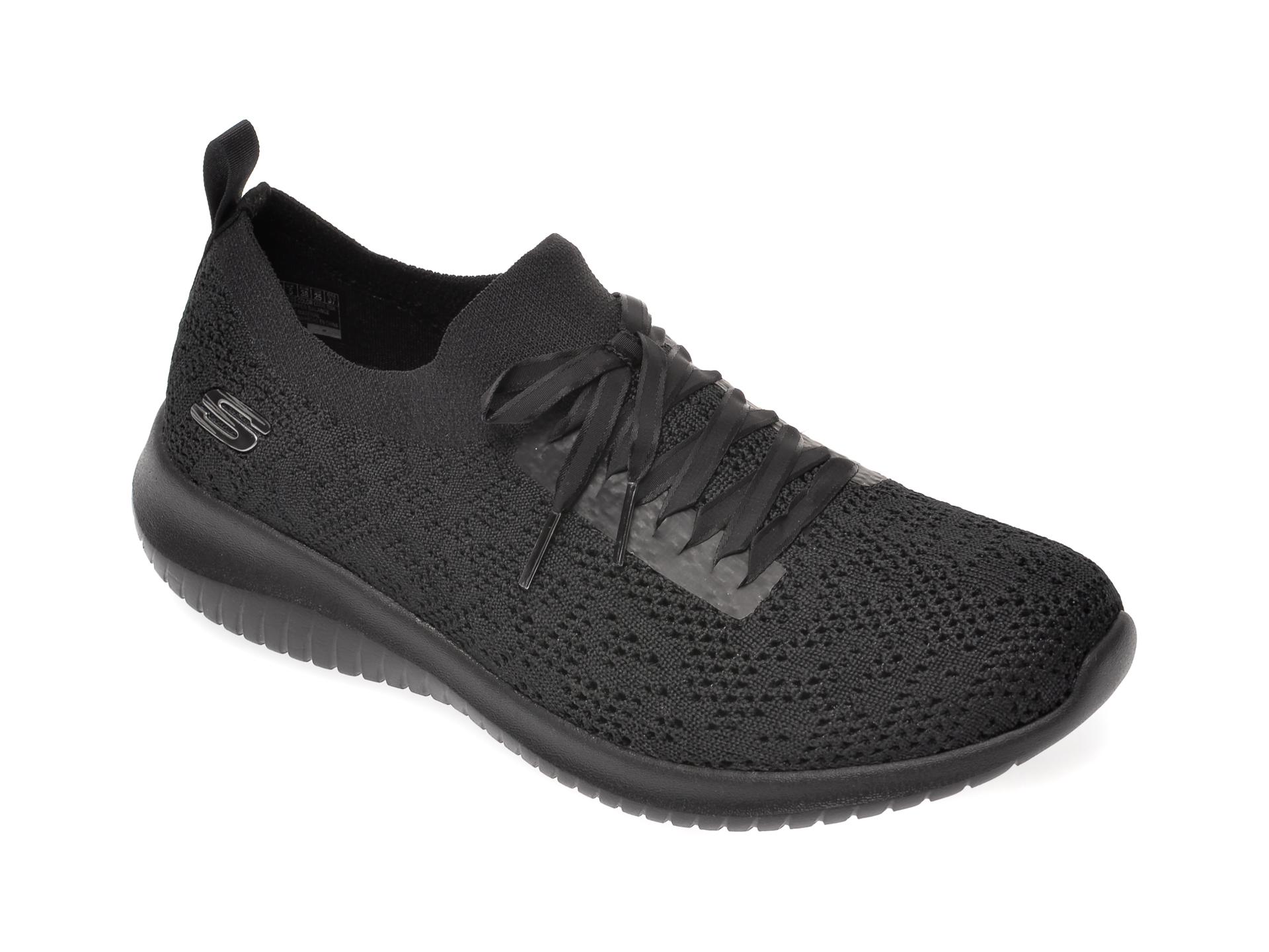 Pantofi sport SKECHERS negri, Ultra Flex, din material textil