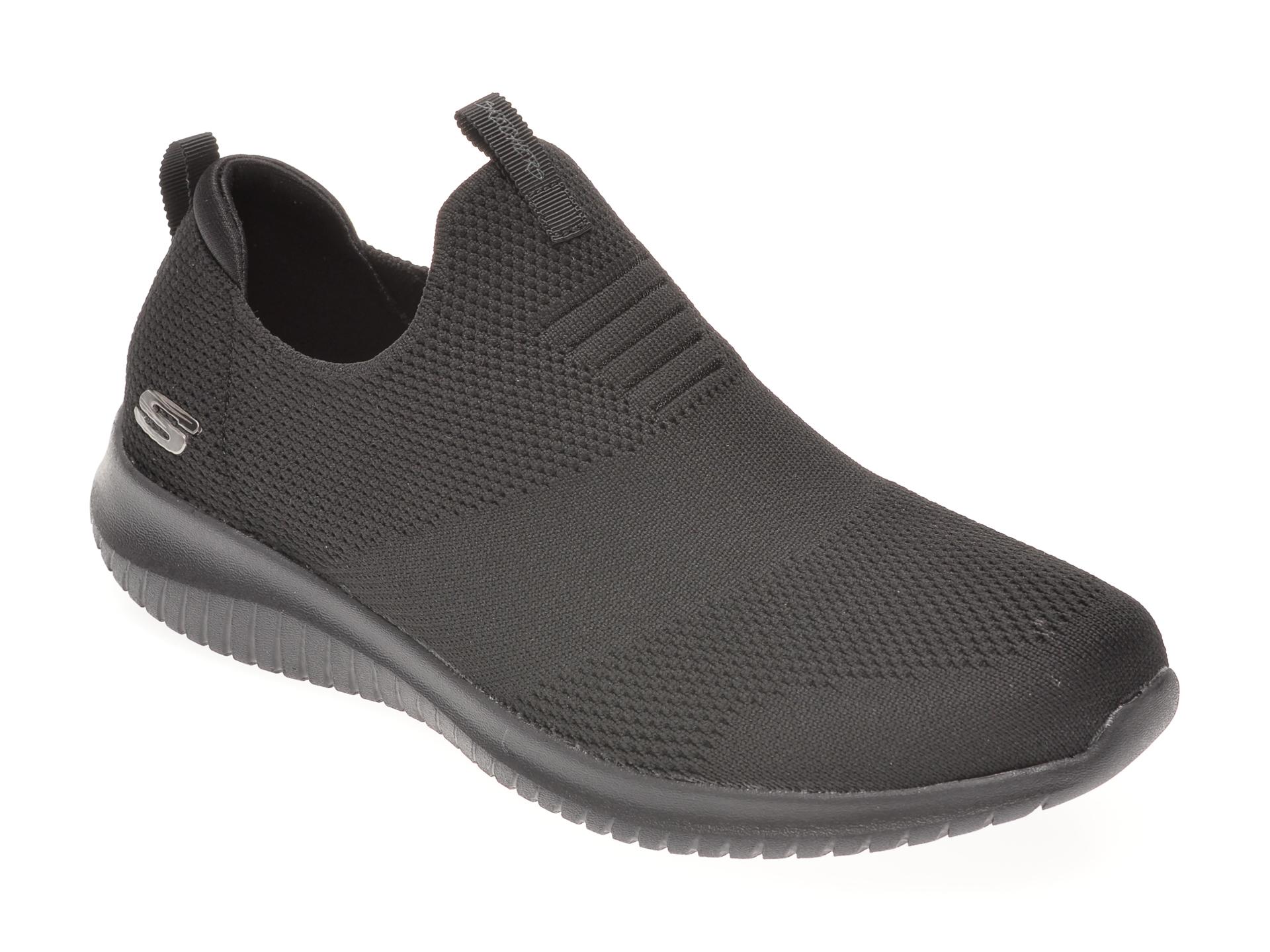 Pantofi Sport Skechers Negri, Ultra Flex First Take, Din Material Textil