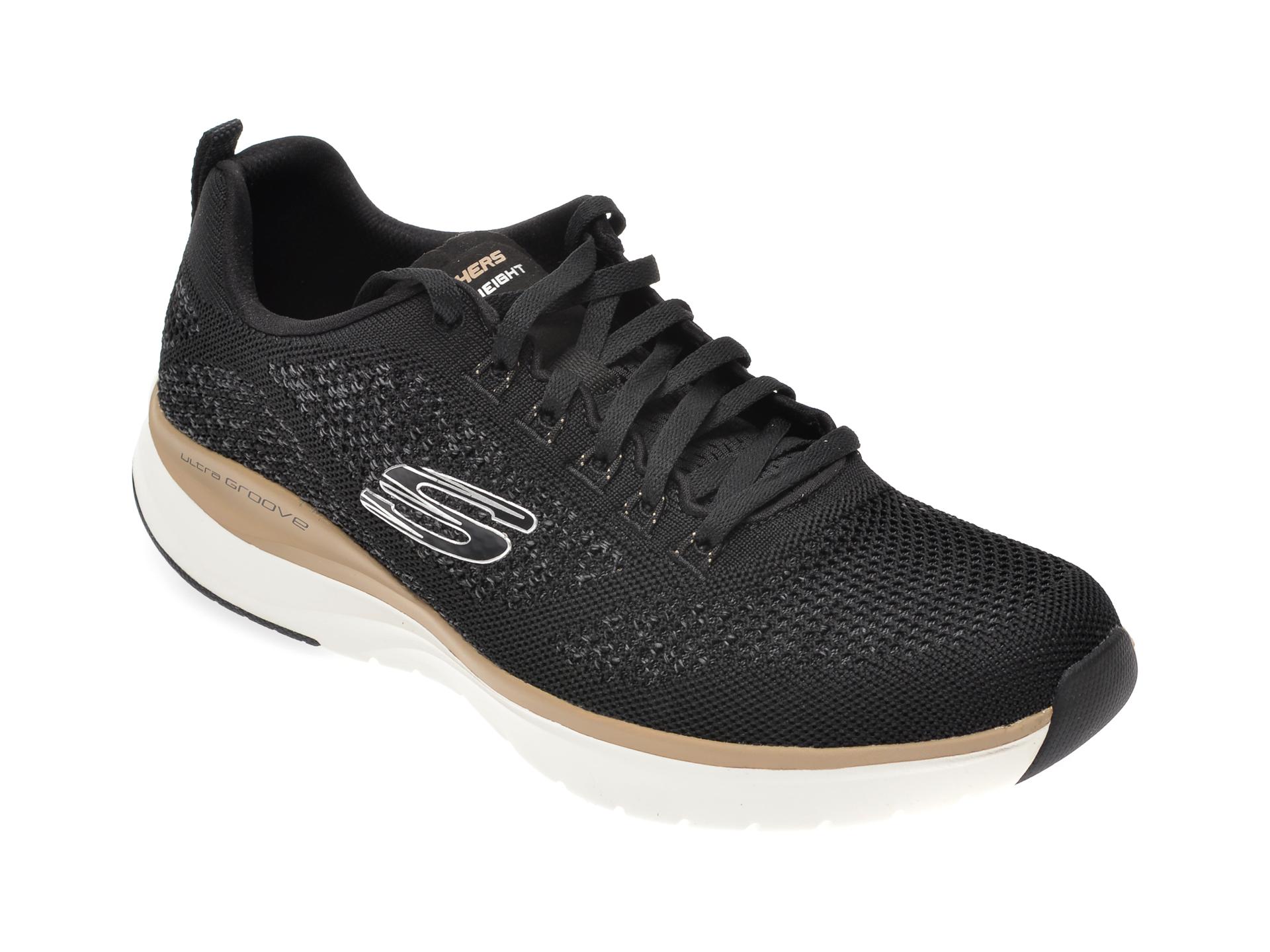 Pantofi sport SKECHERS negri, Ultra Groove, din material textil imagine