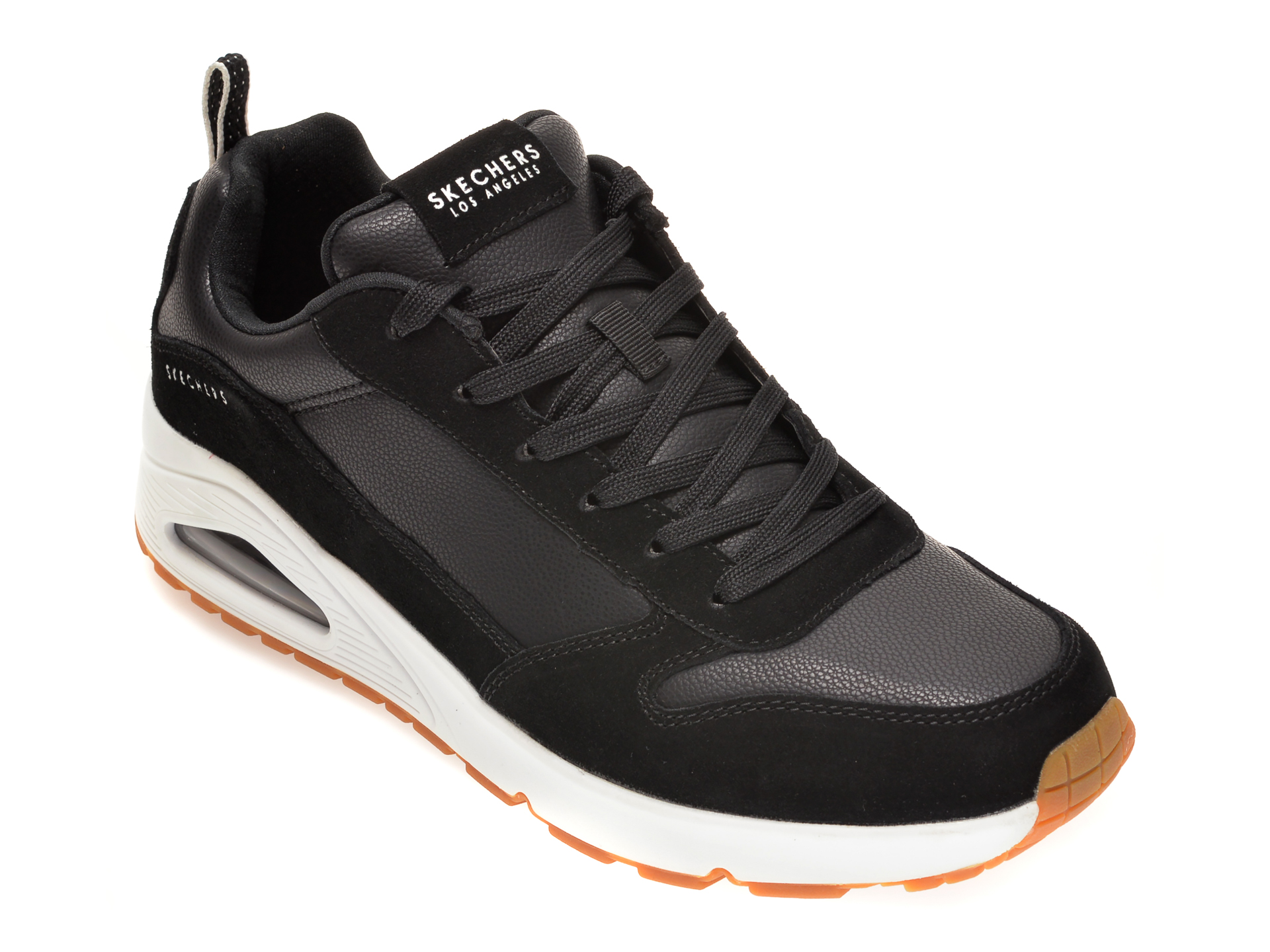 Pantofi sport SKECHERS negri, UNA STACRE, din piele ecologica imagine