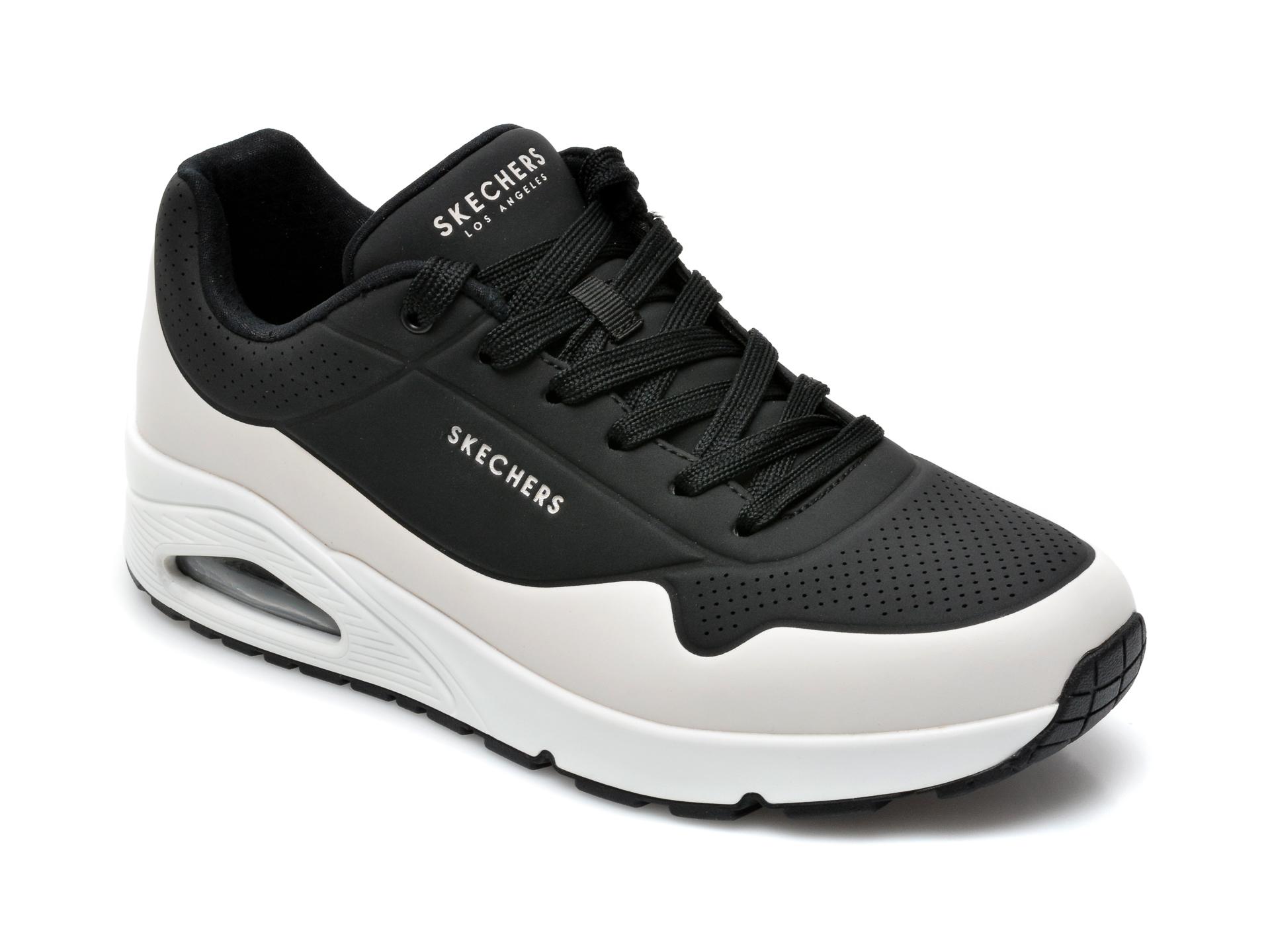 Pantofi sport SKECHERS negri, Uno, din piele ecologica imagine